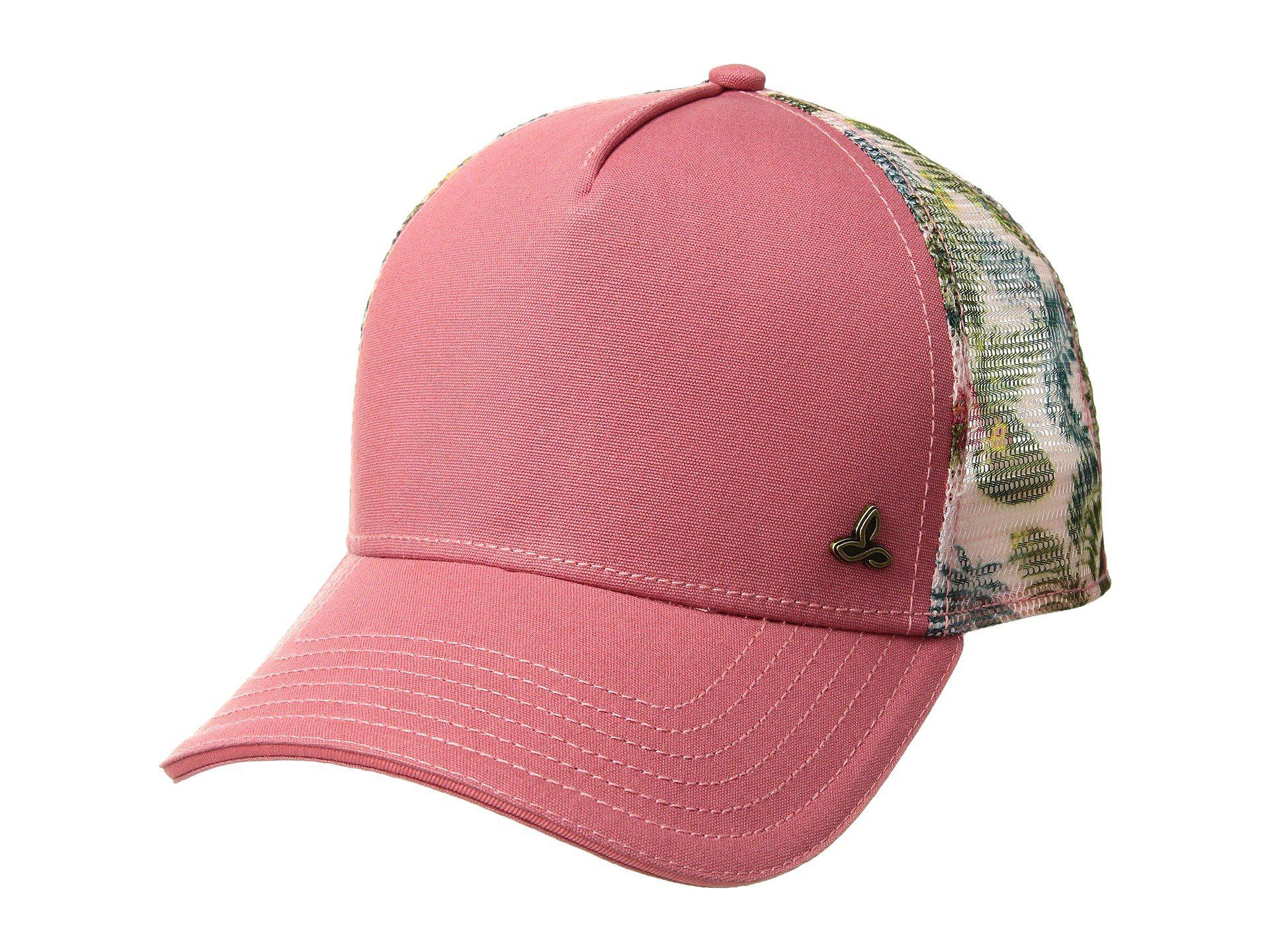 8252cb606ce62e Lyst - Prana Idalis Trucker Hat (peach Gerberas) Caps