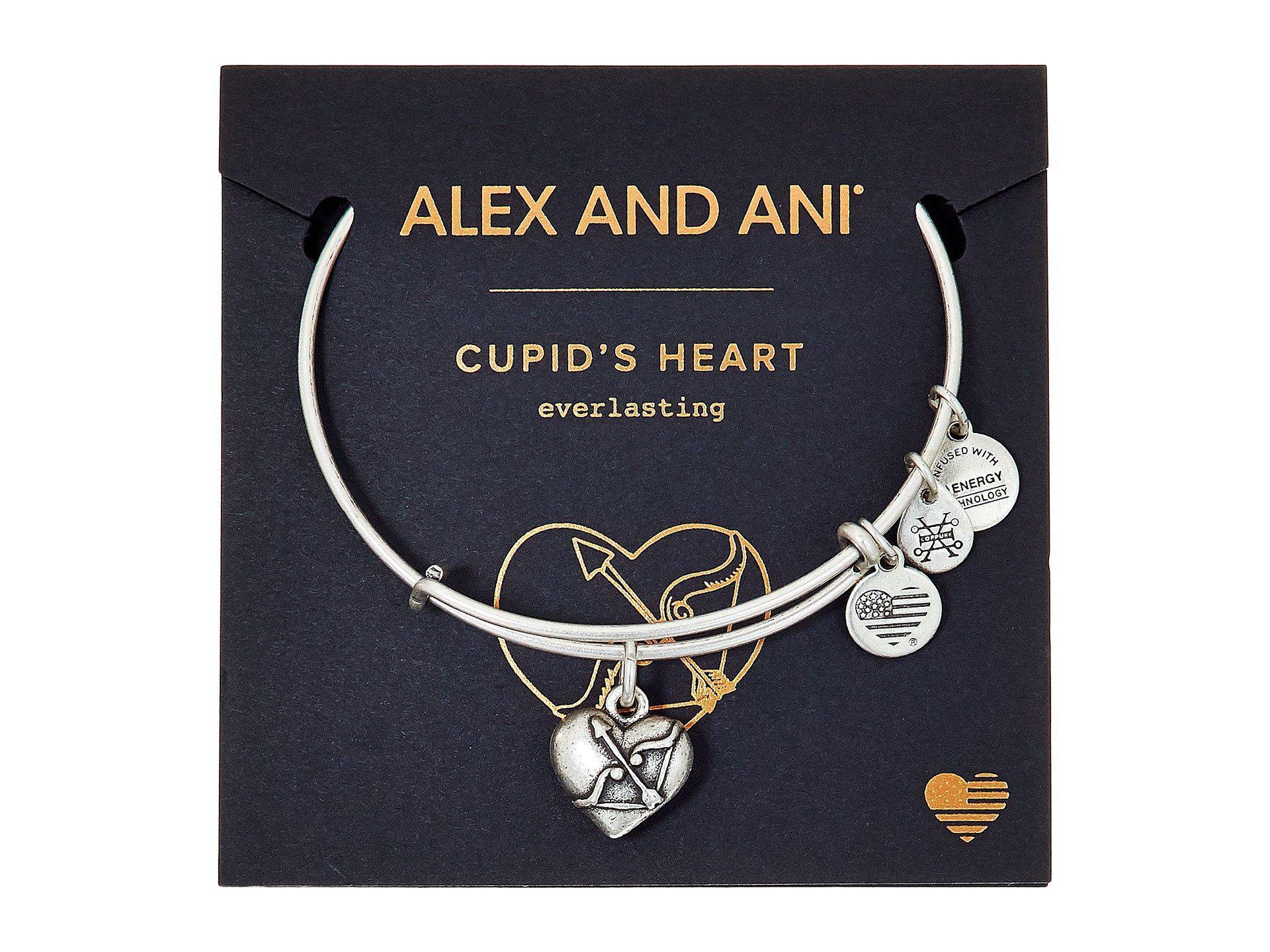 Lyst Alex And Ani Path Of Symbols Cupids Heart Ii Charm Bangle