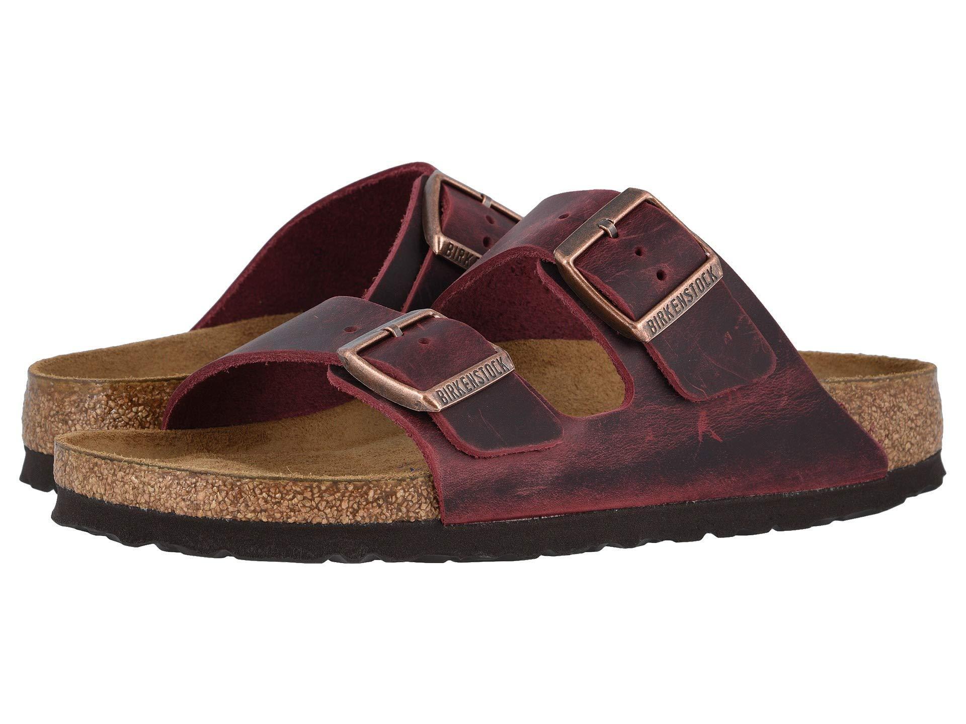 411d288a0 Birkenstock - Brown Arizona Soft Footbed (zinfandel Oiled Leather) Women's  Sandals - Lyst. View fullscreen