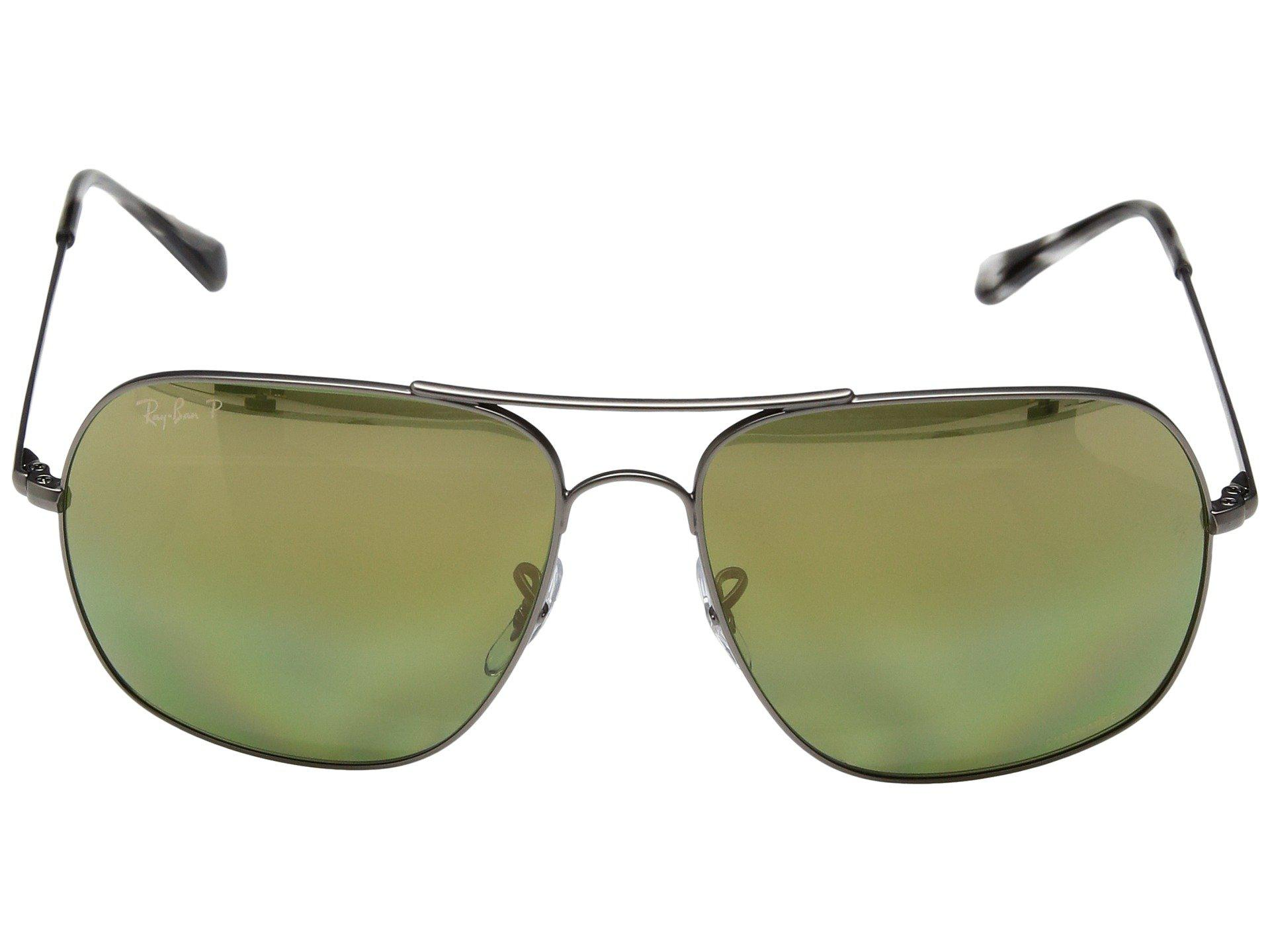 fd1ffadd694 Ray-Ban - Rb3587ch Chromance 61mm (gunmetal polarized Green Mirror Chromance)  Fashion. View fullscreen