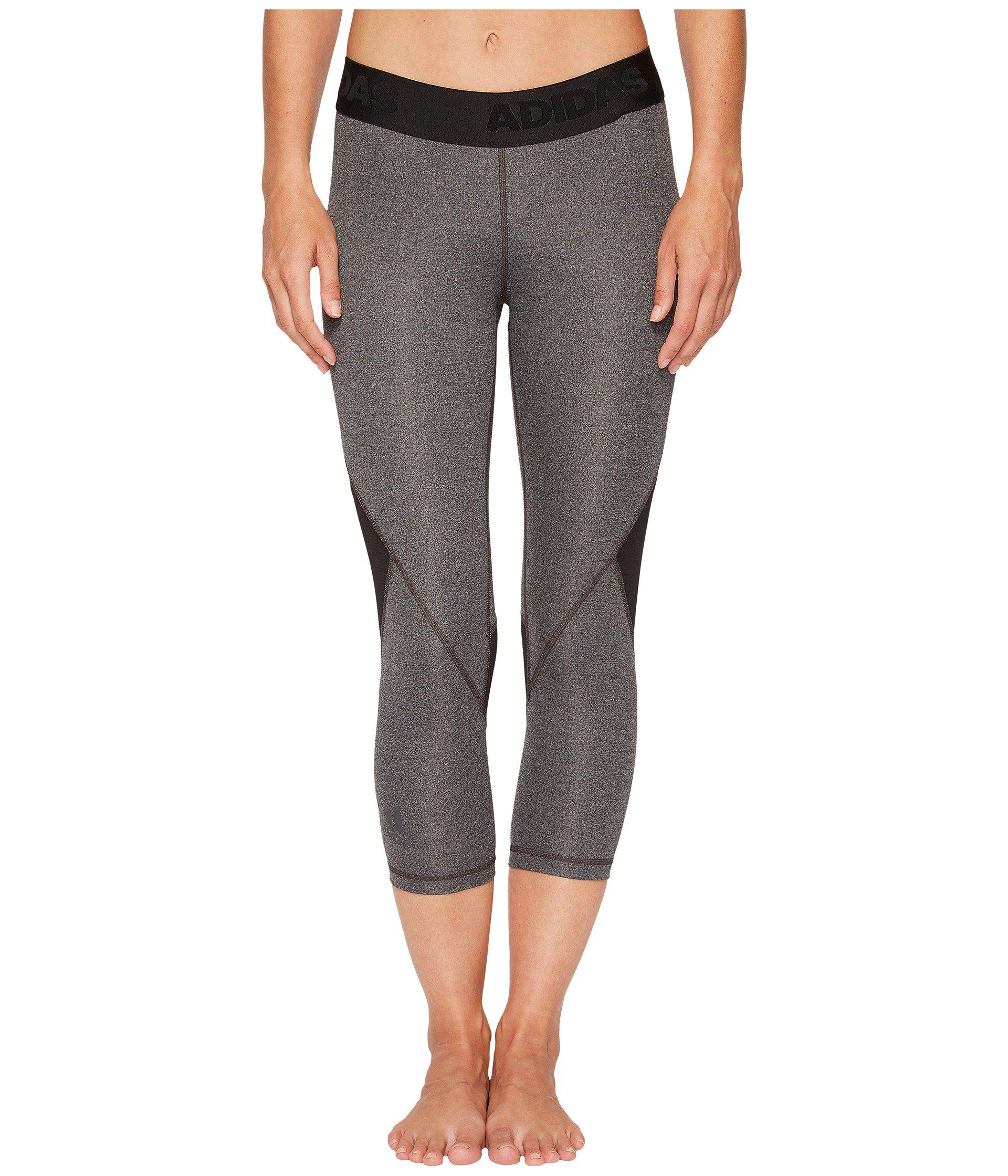 Adidas - Gray Alphaskin Sport 3 4 Tights (black) Women s Workout - Lyst.  View fullscreen a716f5f2e82