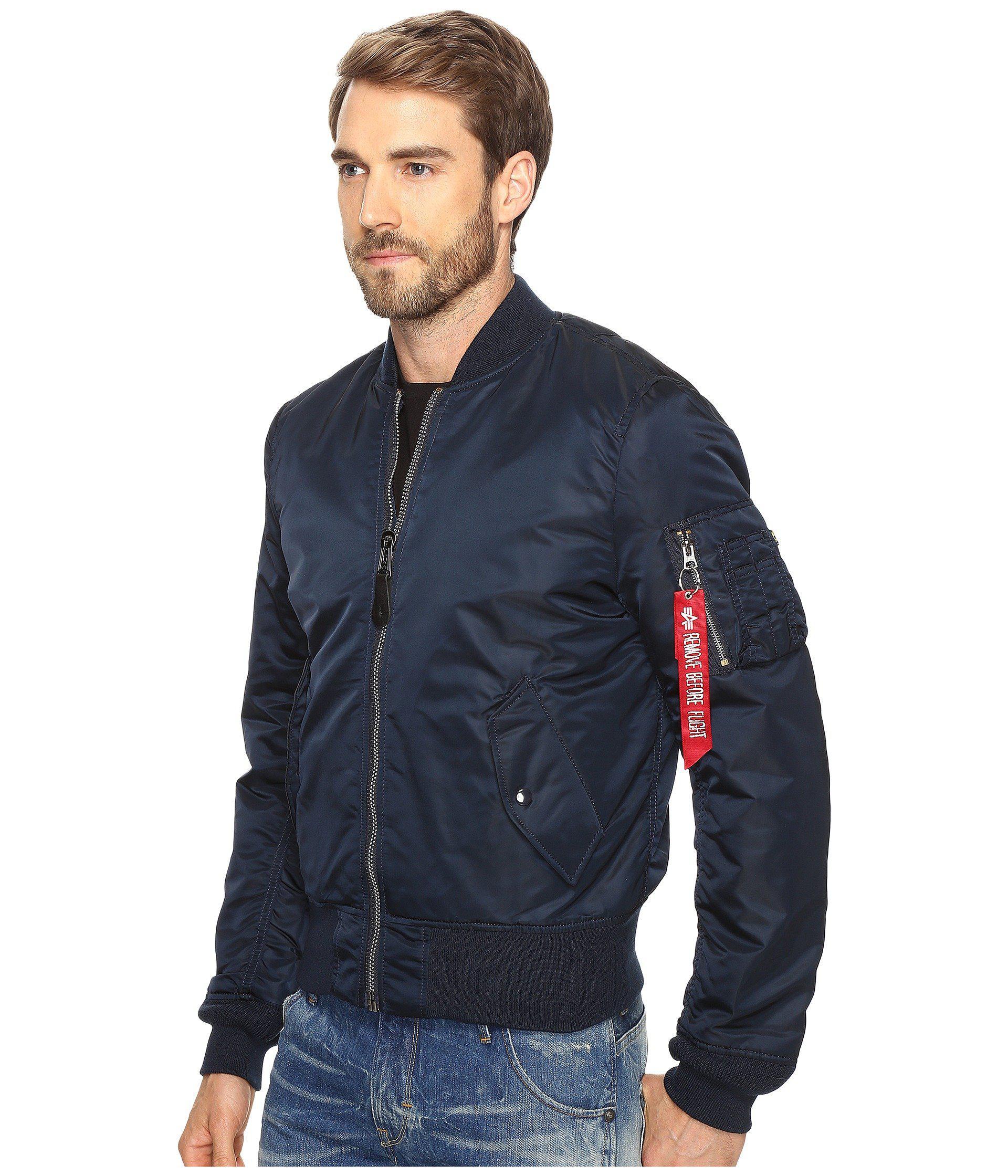 5aa523868f4d Lyst - Alpha Industries Ma-1 Slim Fit Flight Jacket (tonal Black Camo)  Men s Coat in Blue for Men - Save 27%