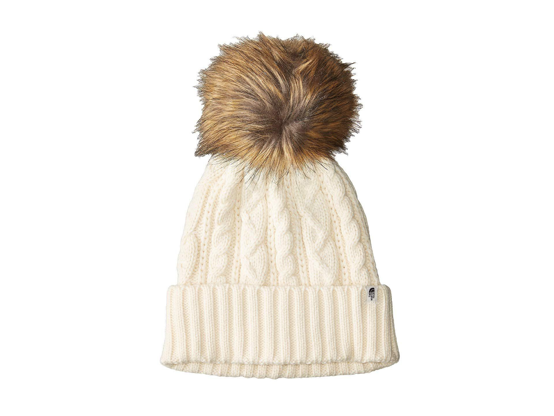 cf7e8575b0c Lyst - The North Face Oh-mega Fur Pom Beanie (new Taupe Green ...