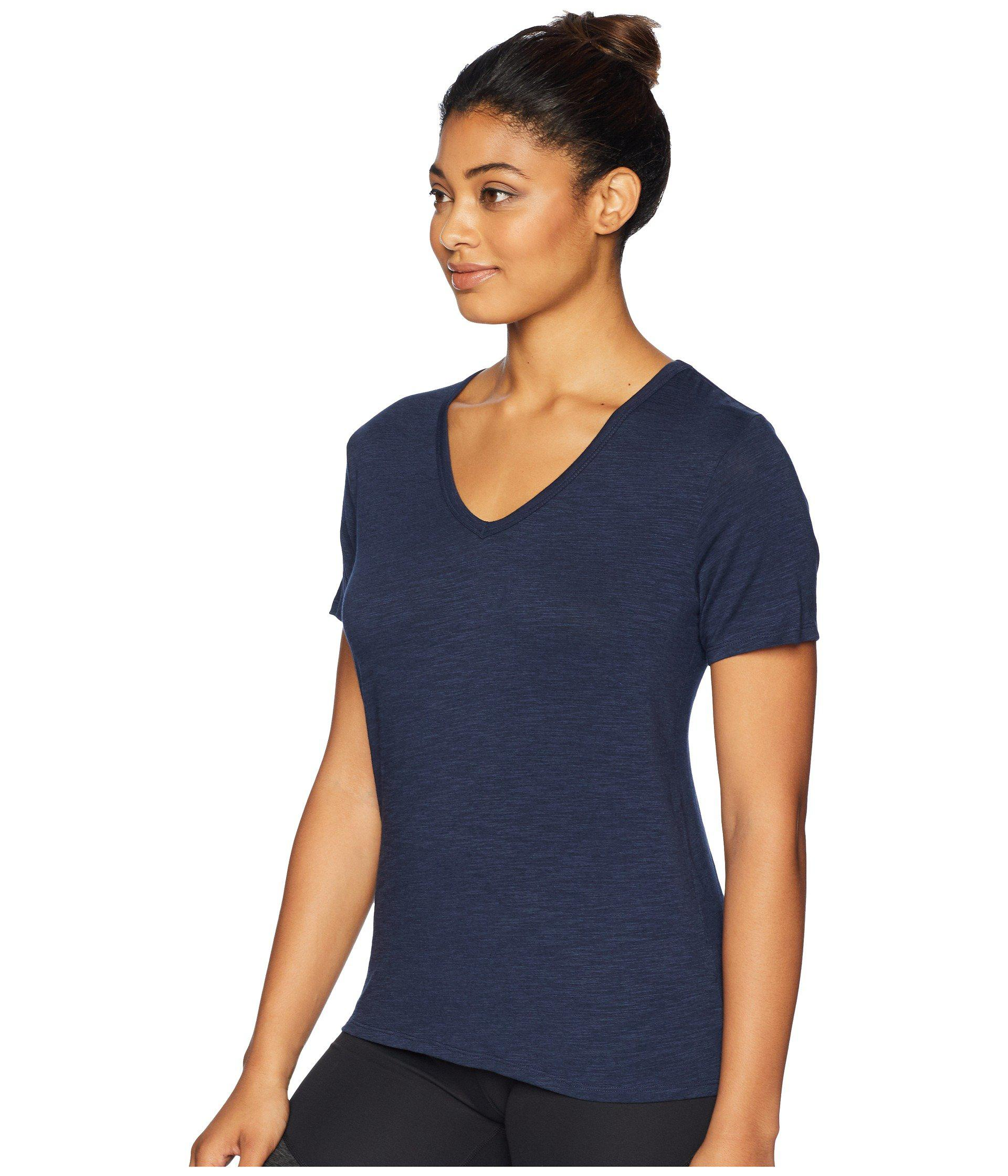 4f0f10fa557e0c Lyst - tasc Performance St. Charles V-neck Short Sleeve Tee (black) Women's  T Shirt in Blue
