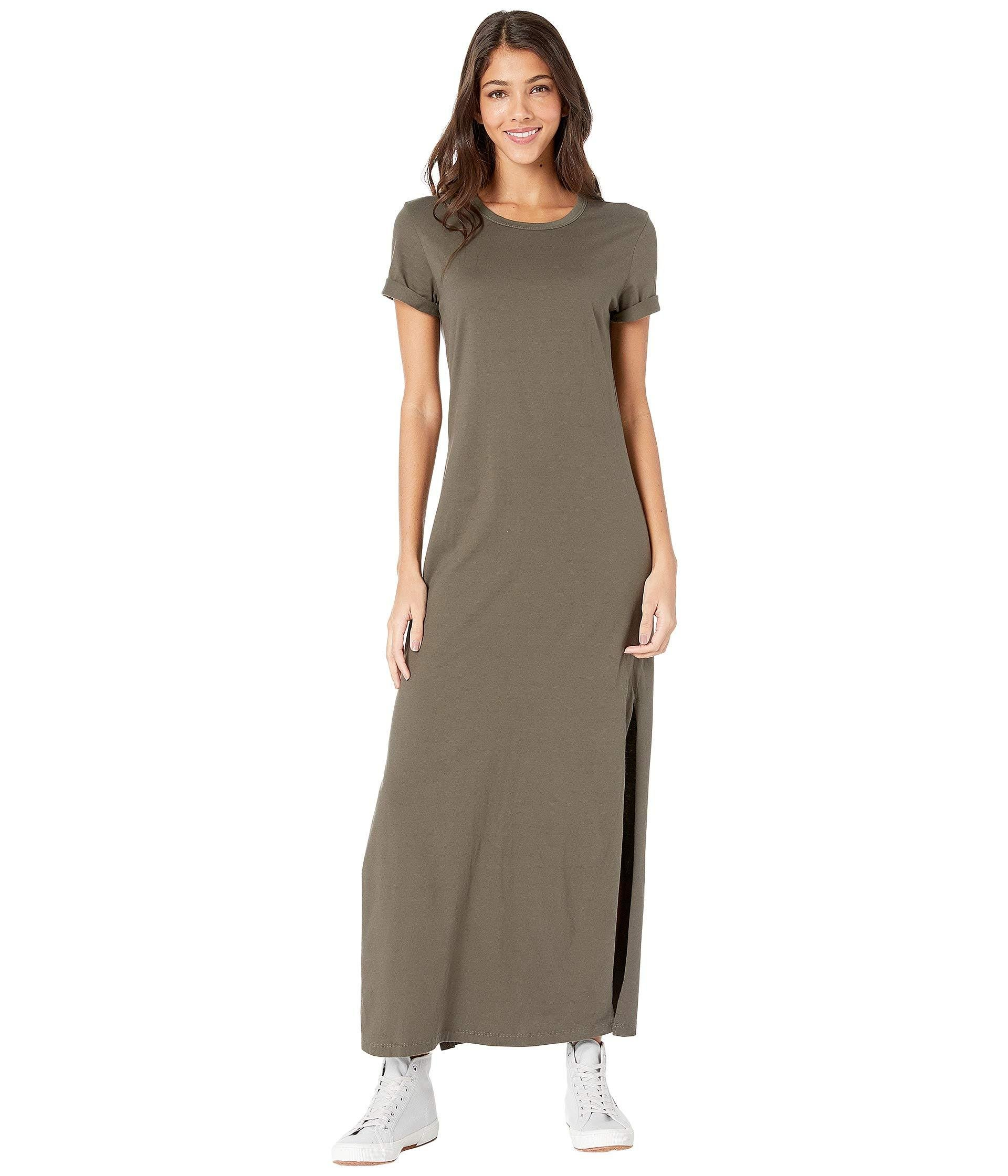 b946511fa9 AG Jeans Alana Relaxed Maxi T-shirt Dress in Green - Save 10% - Lyst