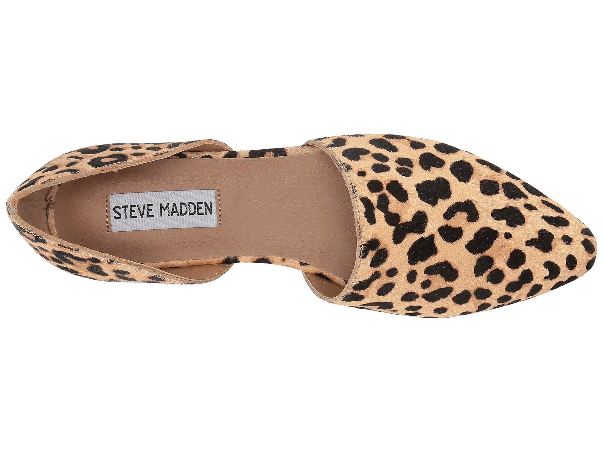 ba832f100db Steve Madden - Multicolor Talent-l Flat (leopard) Women s Shoes - Lyst.  View fullscreen