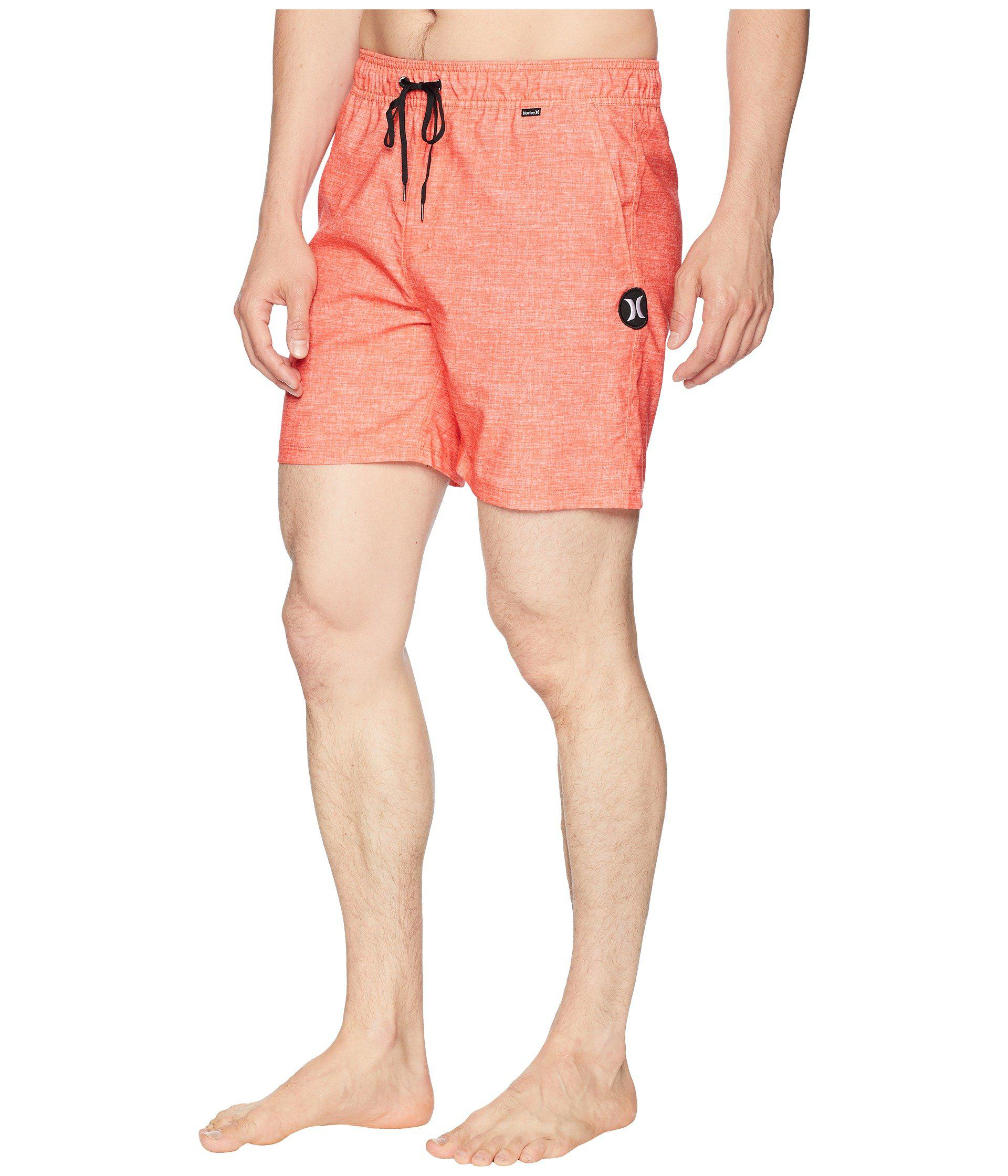 7938ab4525eb1 Hurley Heather Volley Shorts 17 (black) Men's Swimwear in Pink for ...