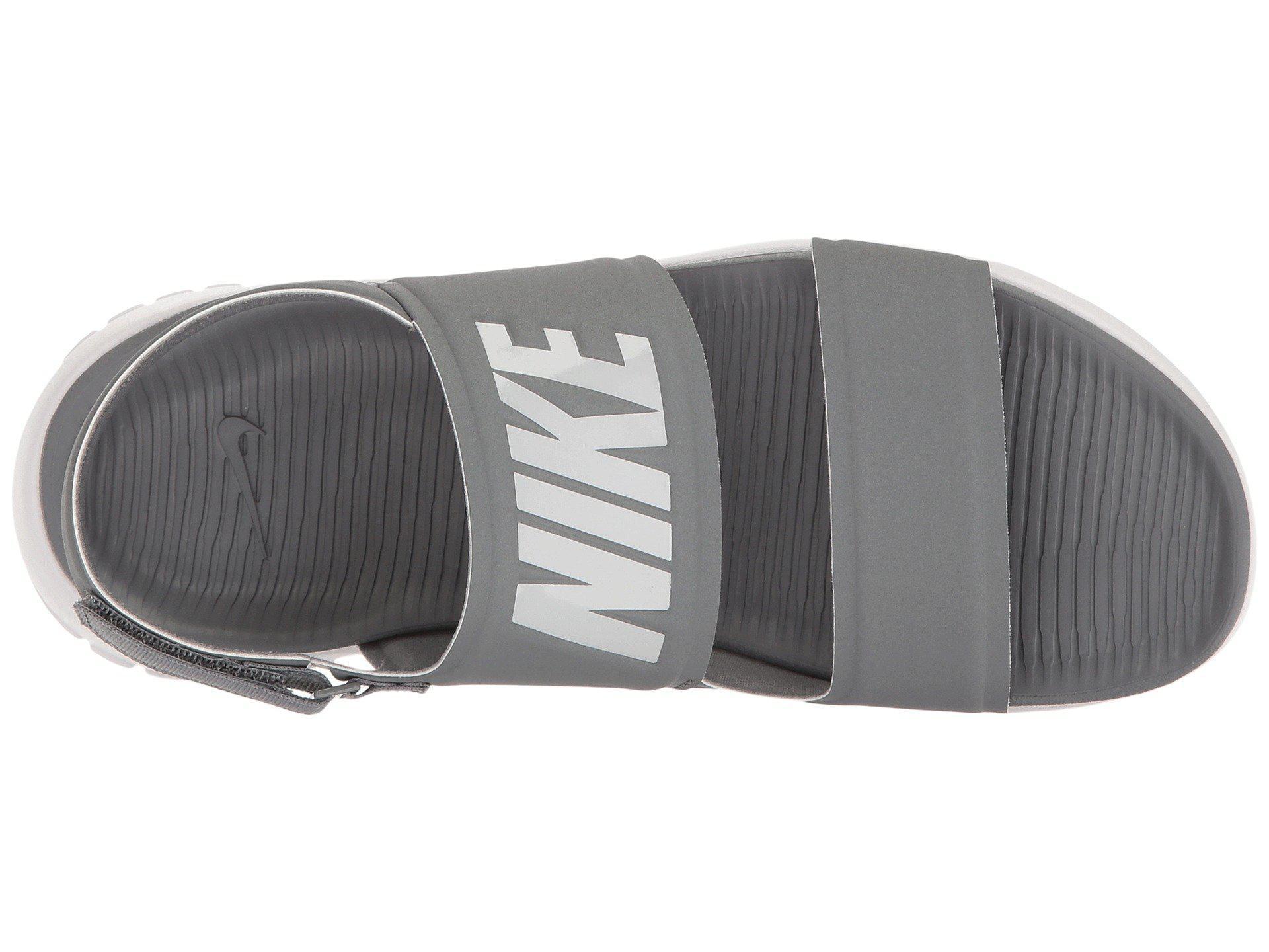3480ea365fc Lyst - Nike Tanjun Sandal (black black white) Women s Shoes in Gray