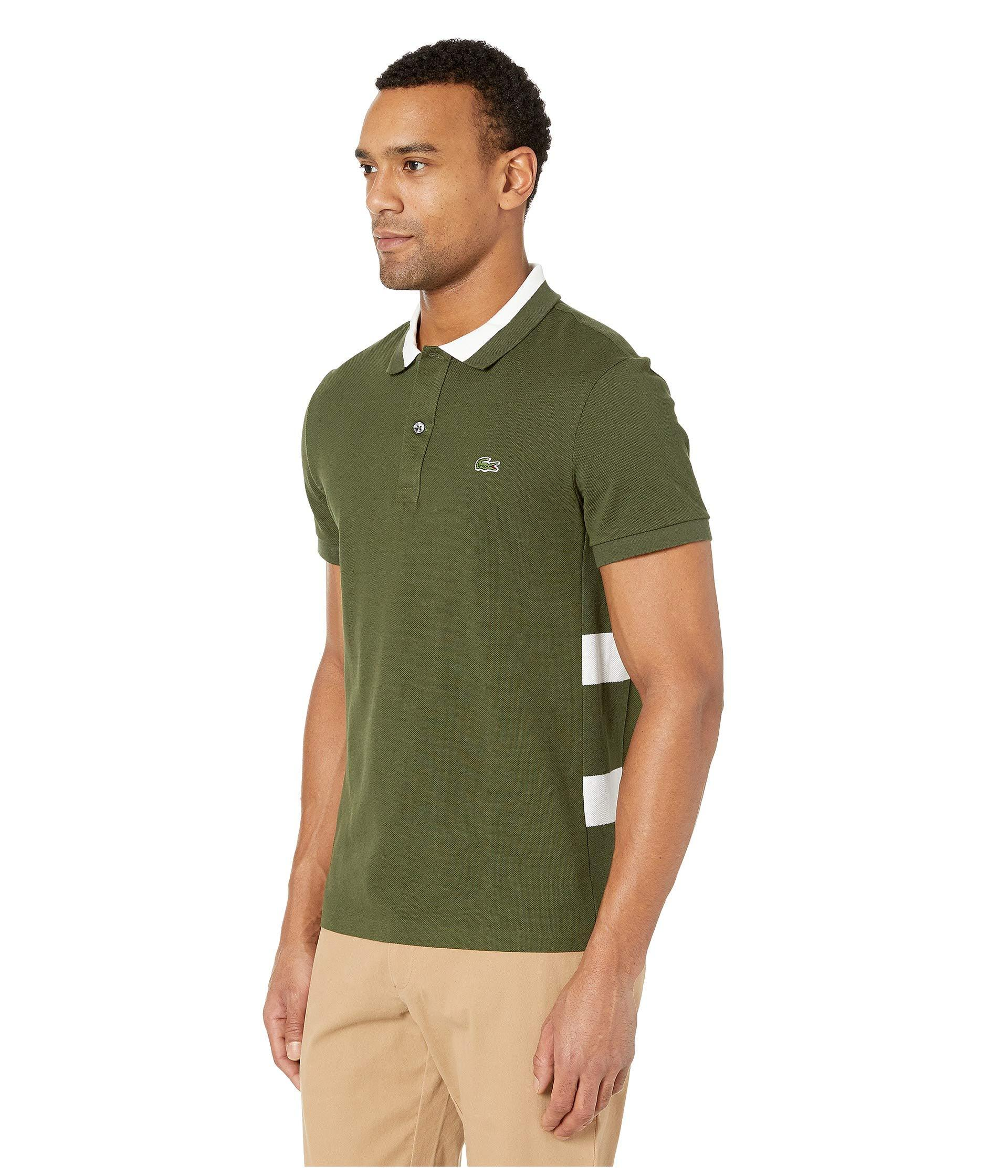 f41e61c7e Lacoste Short Sleeve 3 Ply Textured Pique Regular Fit Polo in Green for Men  - Save 43% - Lyst
