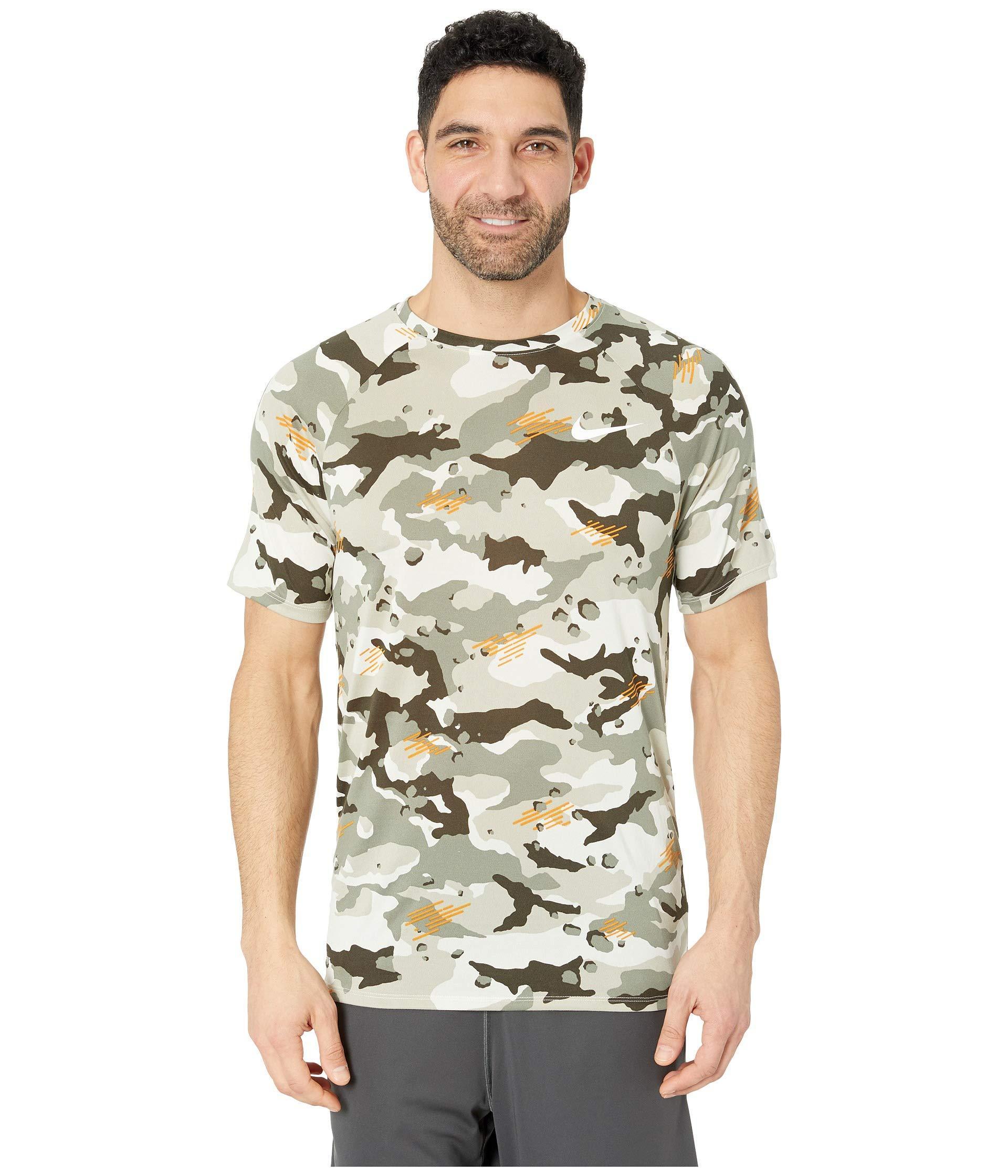 c3e1c6c24c8a57 Nike. Gray Dry Legend Tee Camo All Over Print (white/black) Men's Clothing