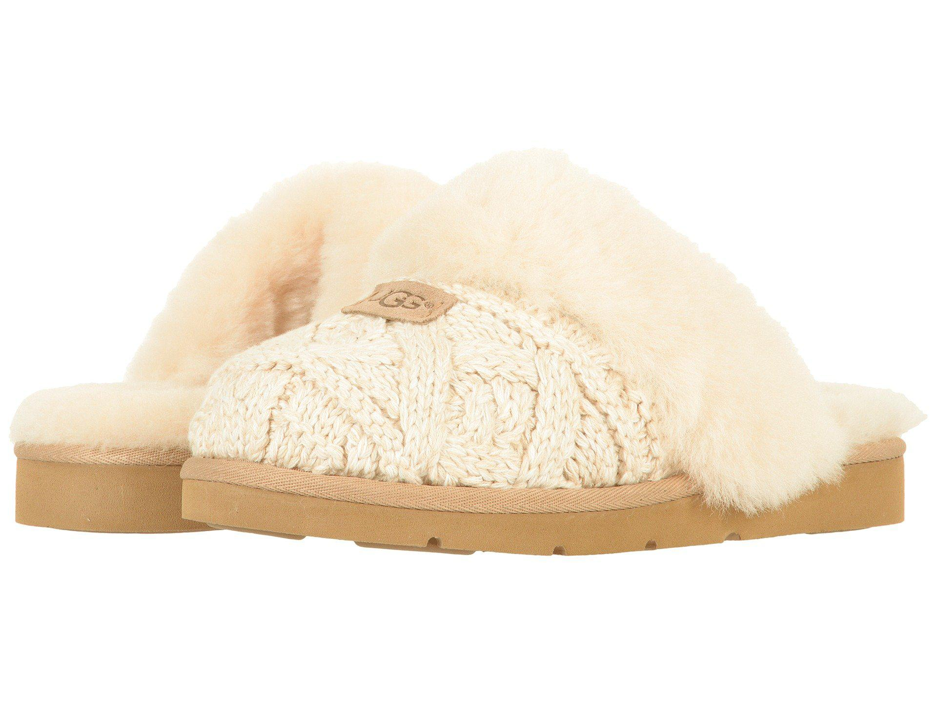 e9783283d5fc Lyst - Ugg Cozy Cable (seal) Women's Sandals in Natural