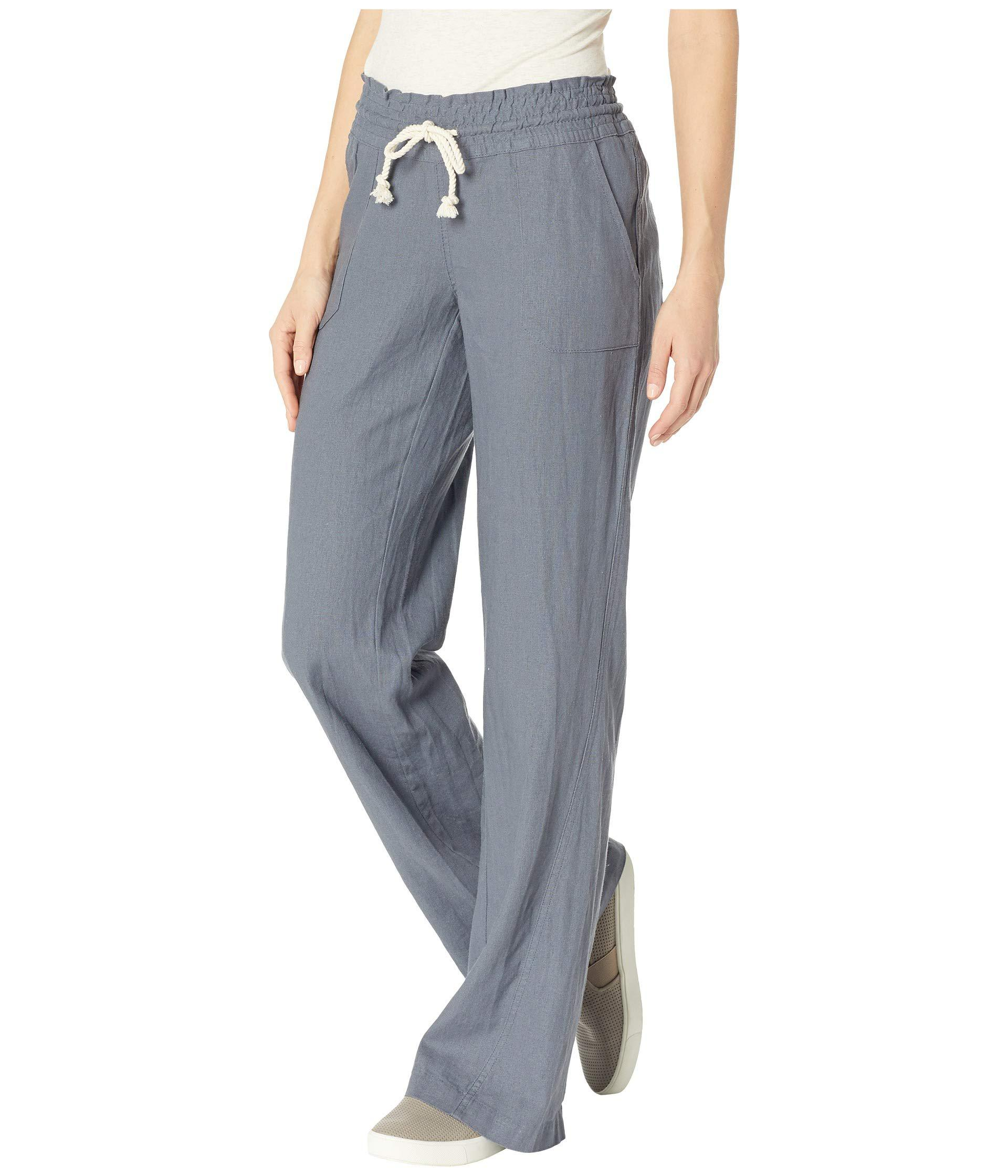 2dc3a7629e Lyst - Roxy Ocean Side Pant (olive) Women's Casual Pants in Blue