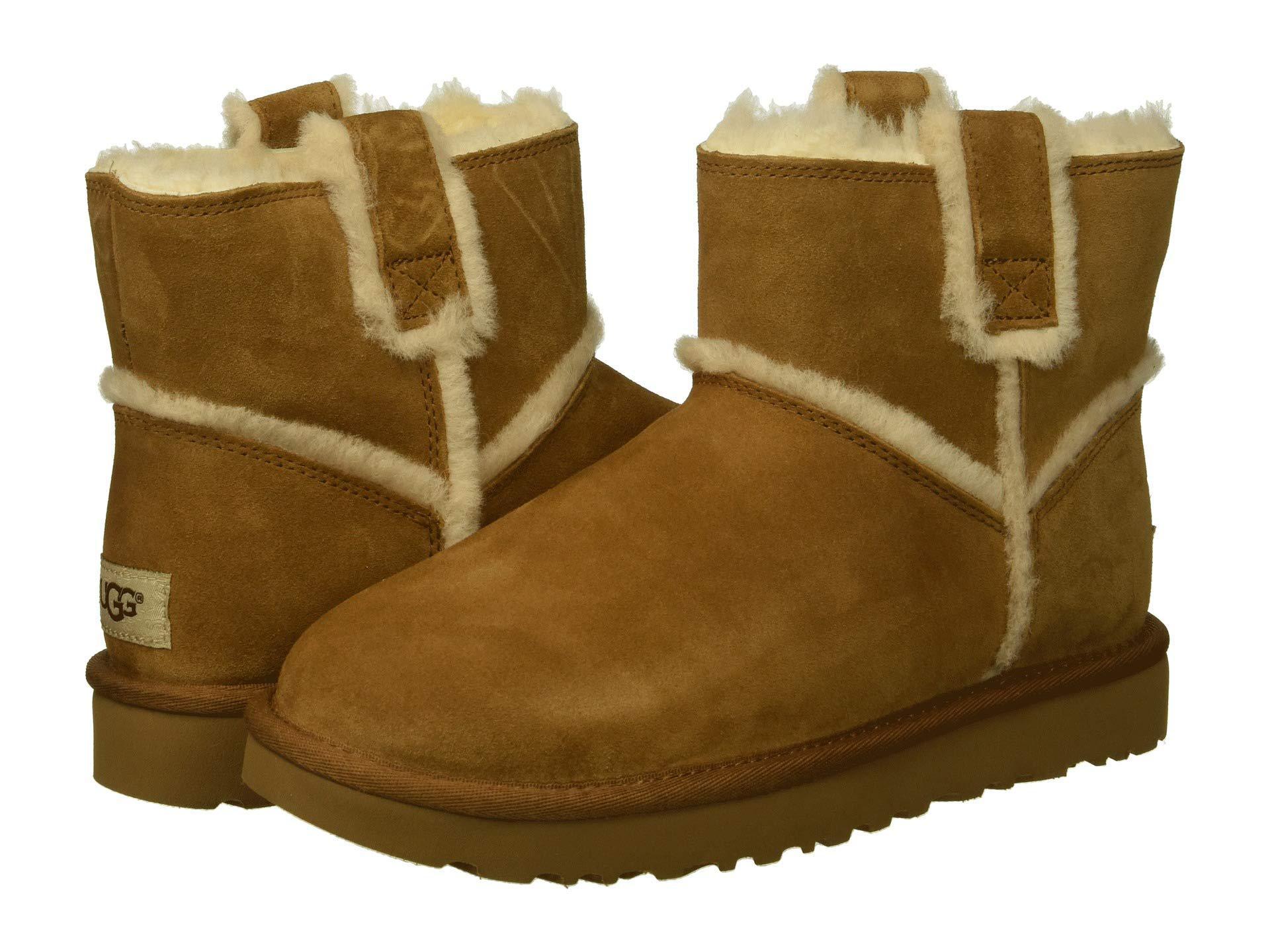 52c2bc7f6fb Brown Classic Mini Spill Seam (black) Women's Pull-on Boots