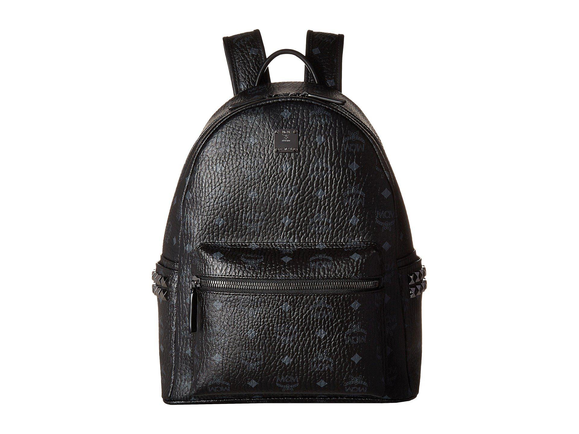 Lyst - MCM Stark Side-stud Small Medium Backpack (cognac) Backpack ... 1f288056bf