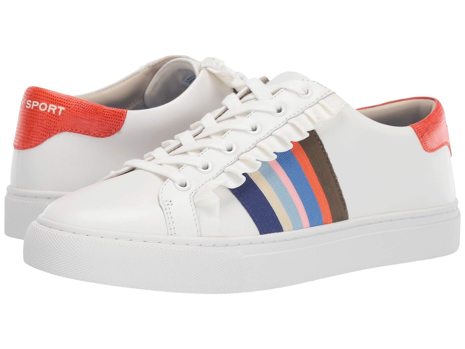 c2097747f831 Lyst - Tory Sport Ruffle Sneaker (snow White nantucket) Women s ...