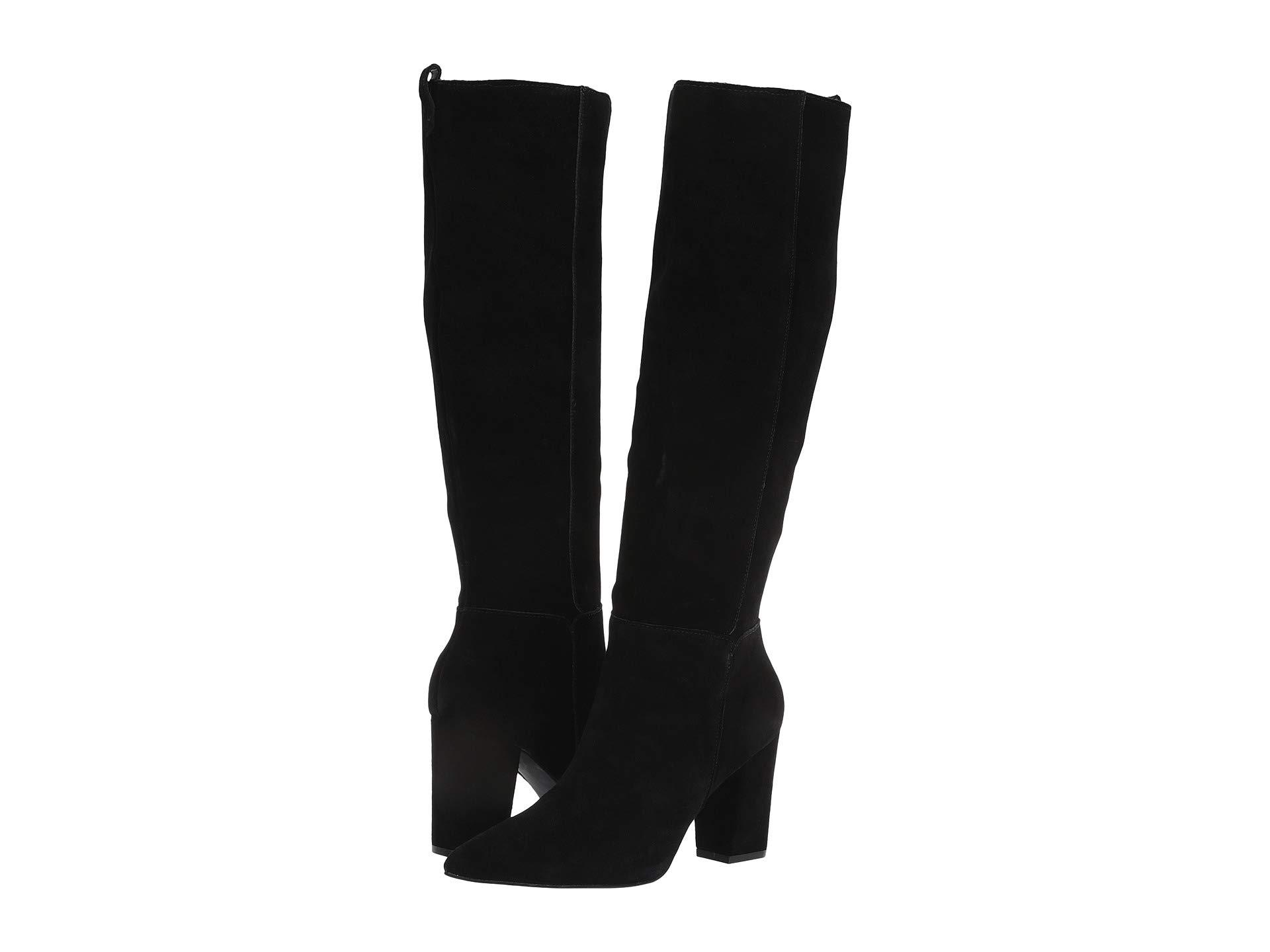 c92f51f5ca5 Steve Madden. Raddle To The Knee Boot (black Suede) Women s Pull-on Boots
