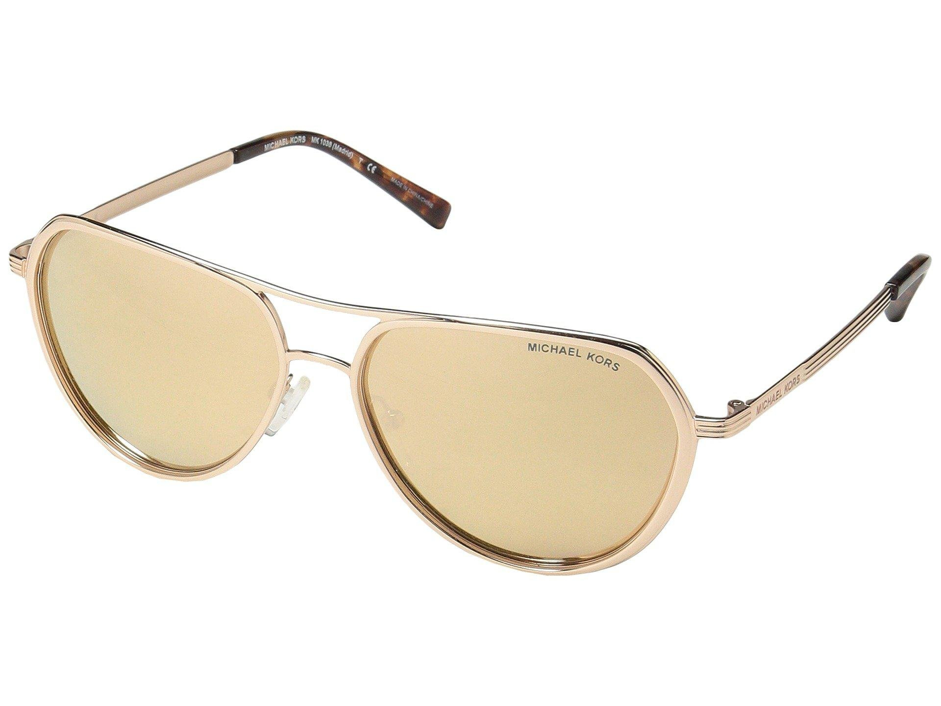 b74e1f6ab7 Michael Kors Madrid 0mk1036 57mm (light Gold smoke Gradient) Fashion ...