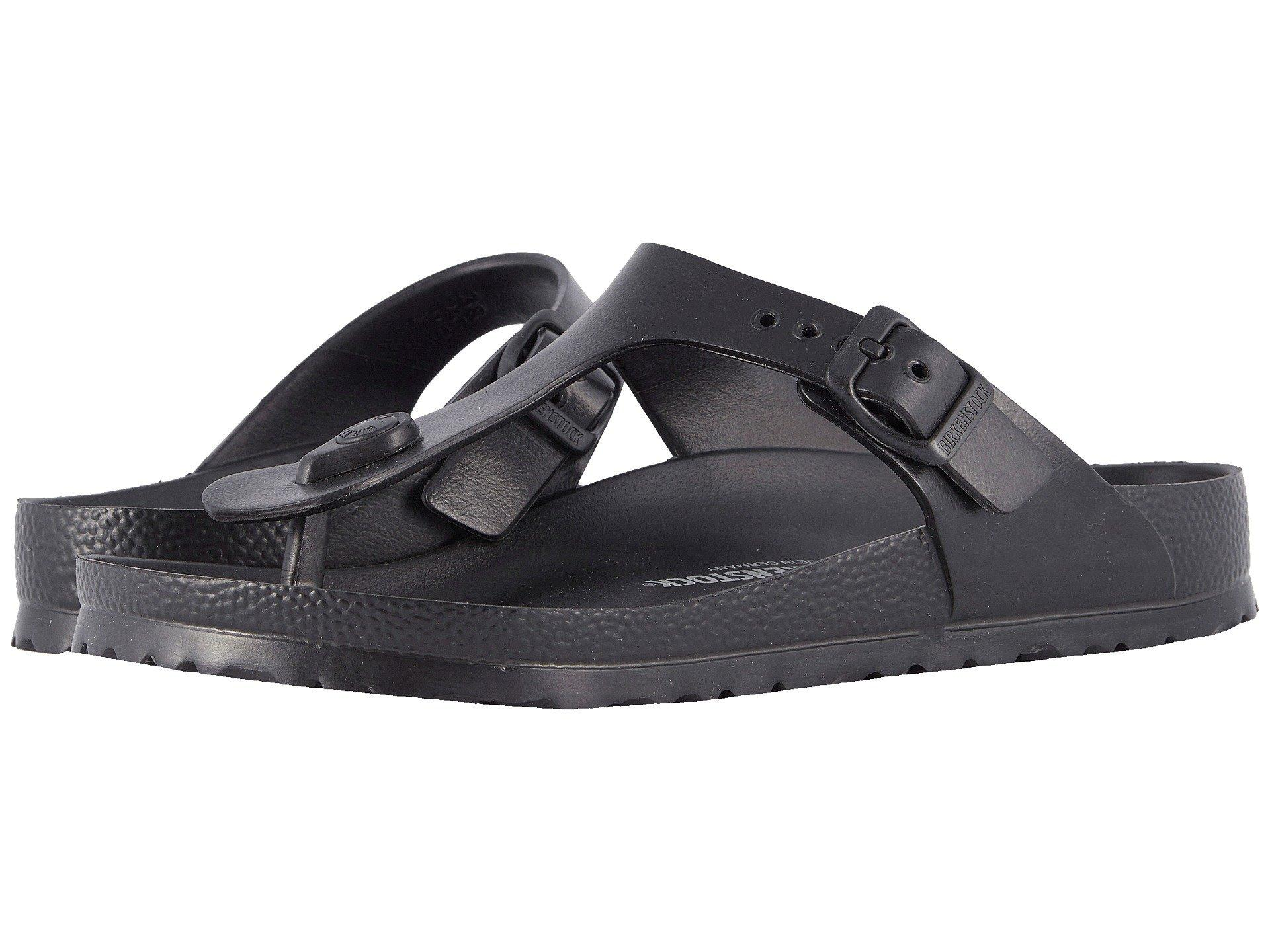 29ec1f431bfb Lyst - Birkenstock Gizeh Essentials (coral Eva) Women s Sandals in Black
