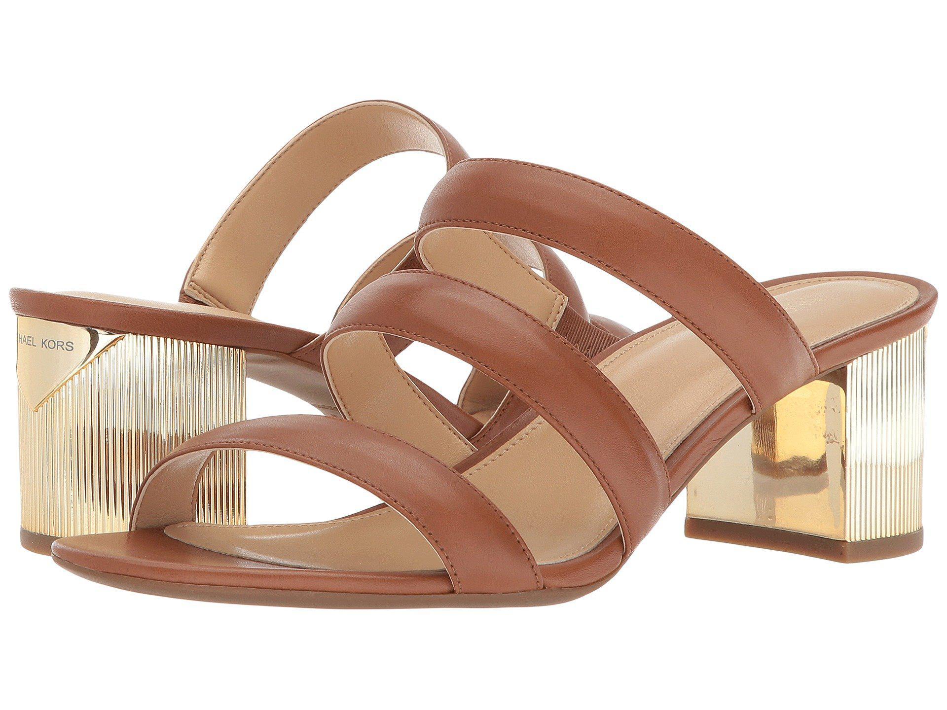 MICHAEL Michael Kors Paloma Flex Cracked Metallic Leather Sandal eCnMu5cM