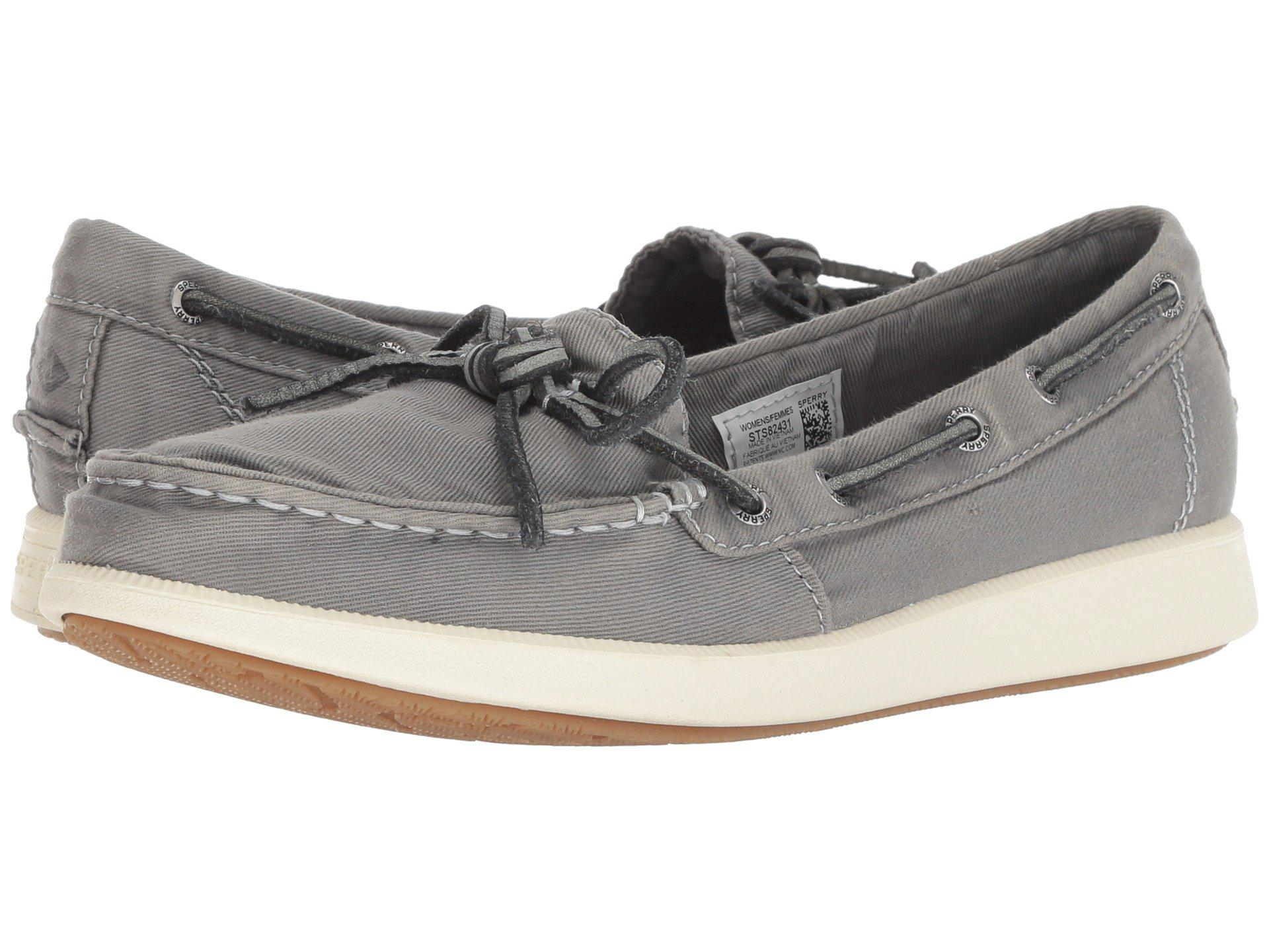 Lyst - Sperry Top-Sider Oasis Canal Canvas (ivory) Women s Slip On ... f33114a5d