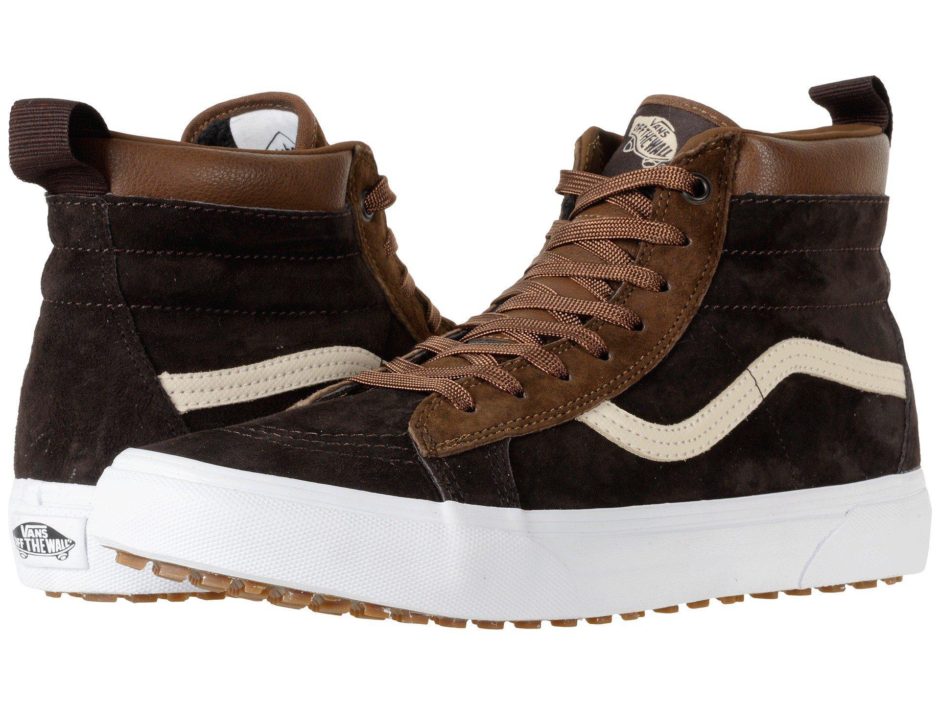 866988a7c40 Lyst - Vans Sk8-hi Mte ((mte) Black night) Skate Shoes in Brown