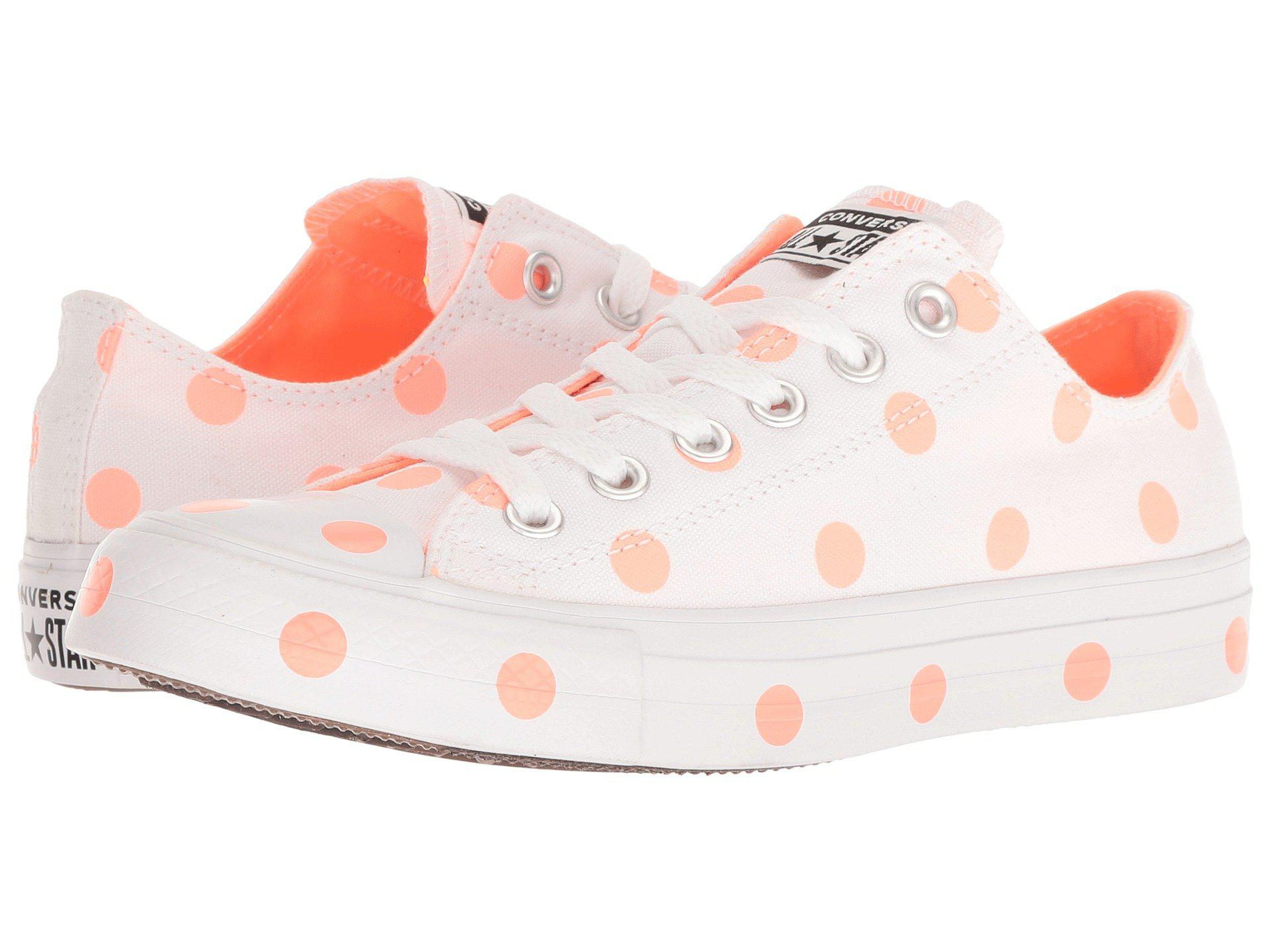 a5ab192b53a Lyst - Converse Chuck Taylor® All Star® Ox - Dots in White