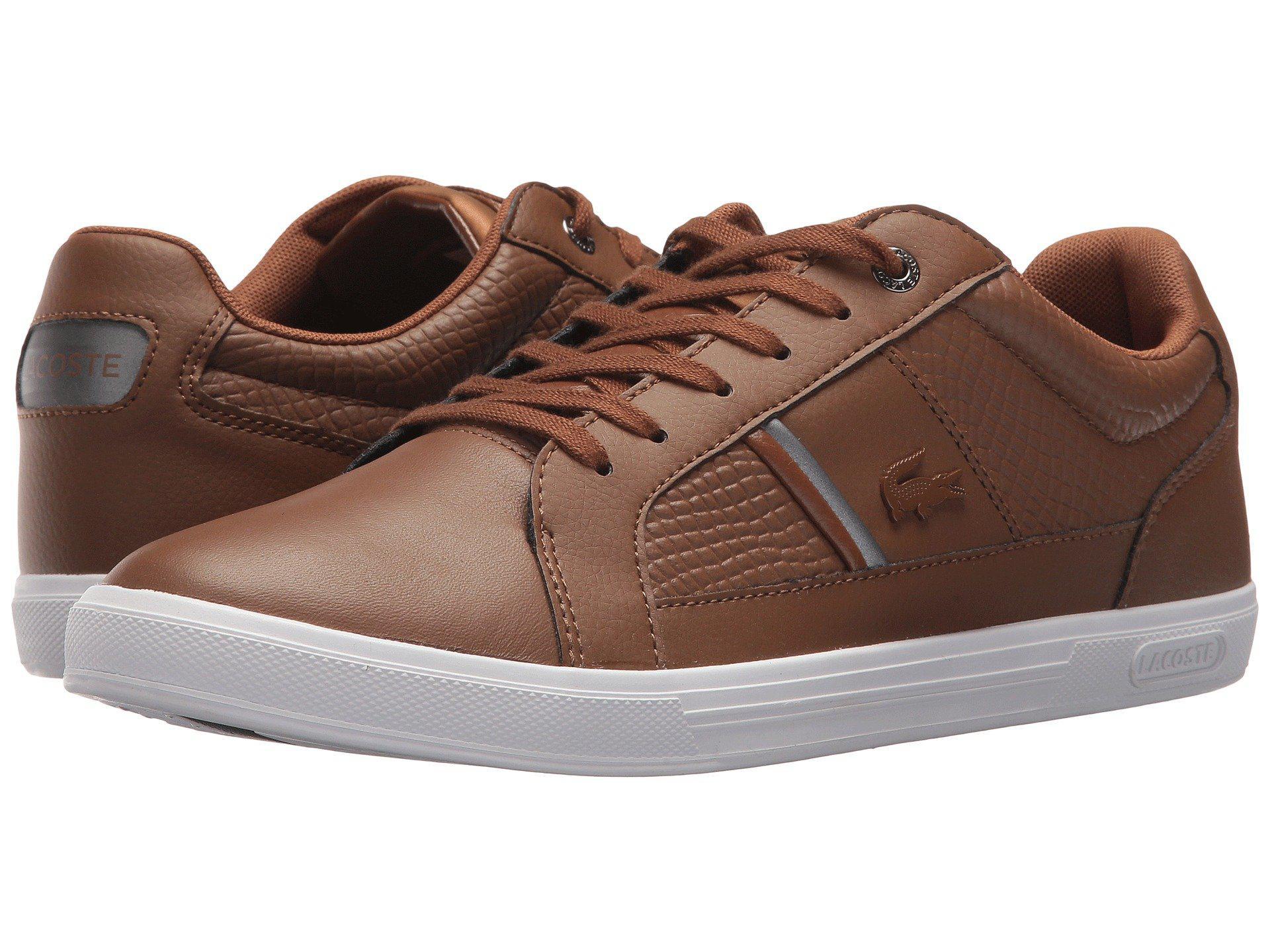 92870ea96d74 Lyst - Lacoste Europa 417 1 Sport (dark Brown) Men s Shoes in Brown ...