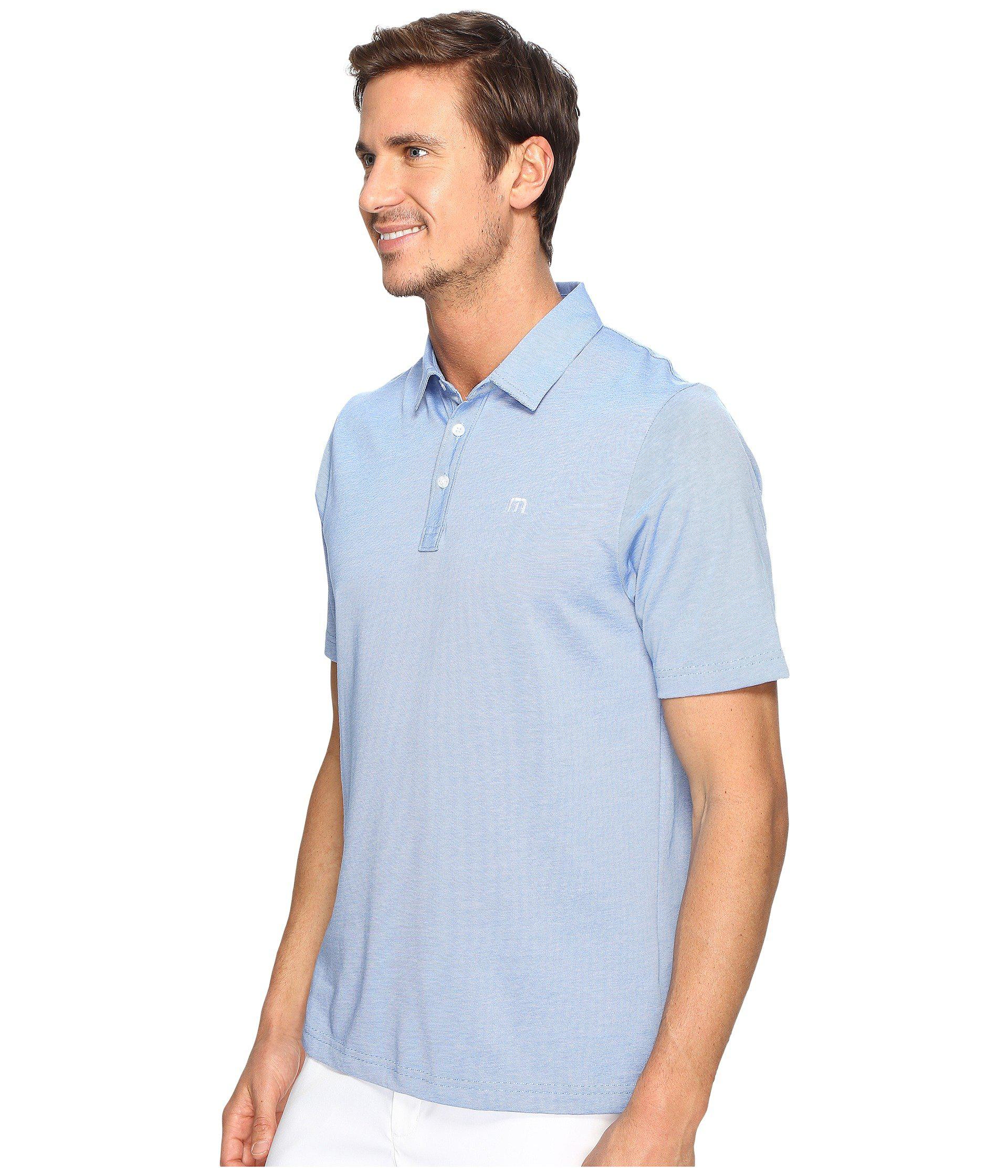 53d990ad Travis Mathew The Zinna Polo (black) Men's Clothing in Blue for Men - Lyst