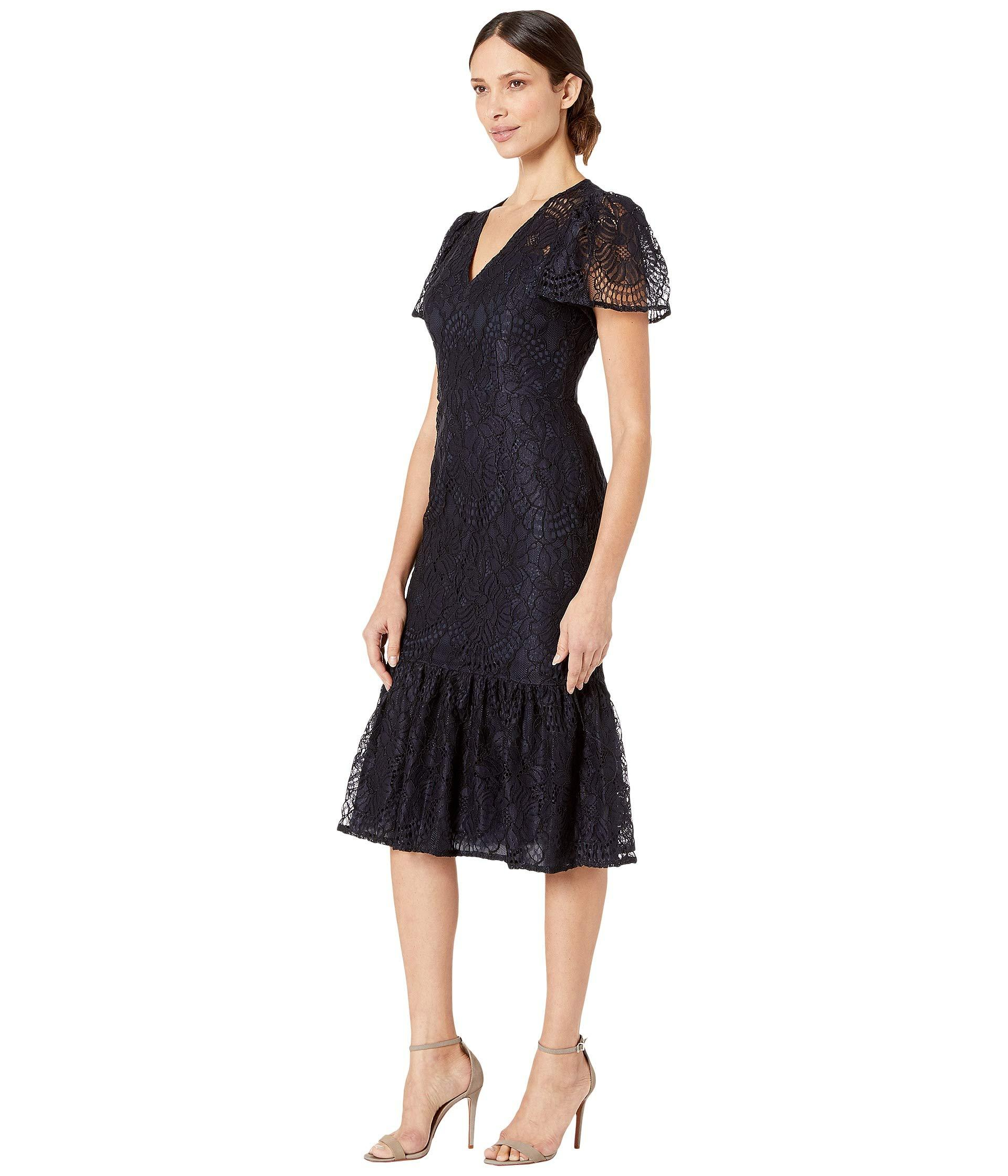 d8846576b95 Navy Lace Cocktail Dress With Sleeves - Gomes Weine AG