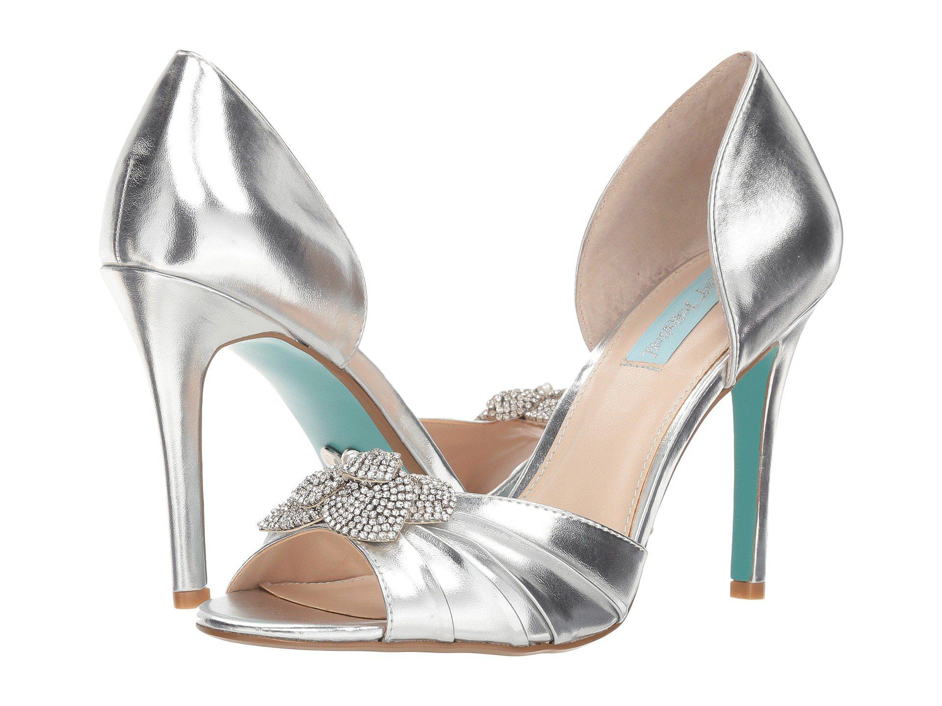 74cbe53eb41 Lyst - Betsey Johnson Briar (ivory Satin) High Heels in Metallic