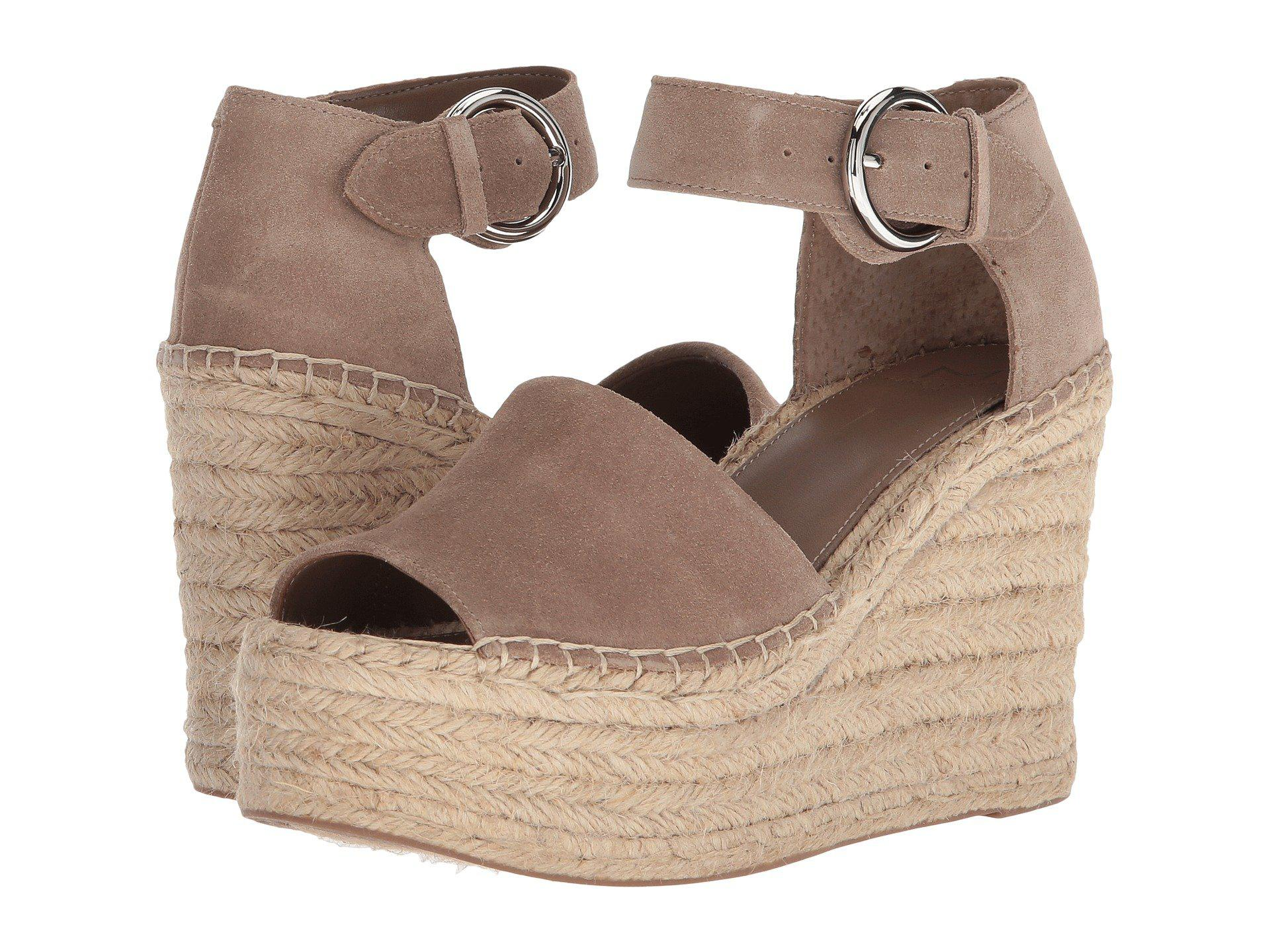 16afb9e283f Lyst - Marc Fisher Alida Espadrille Wedge (natural Suede) Women s ...