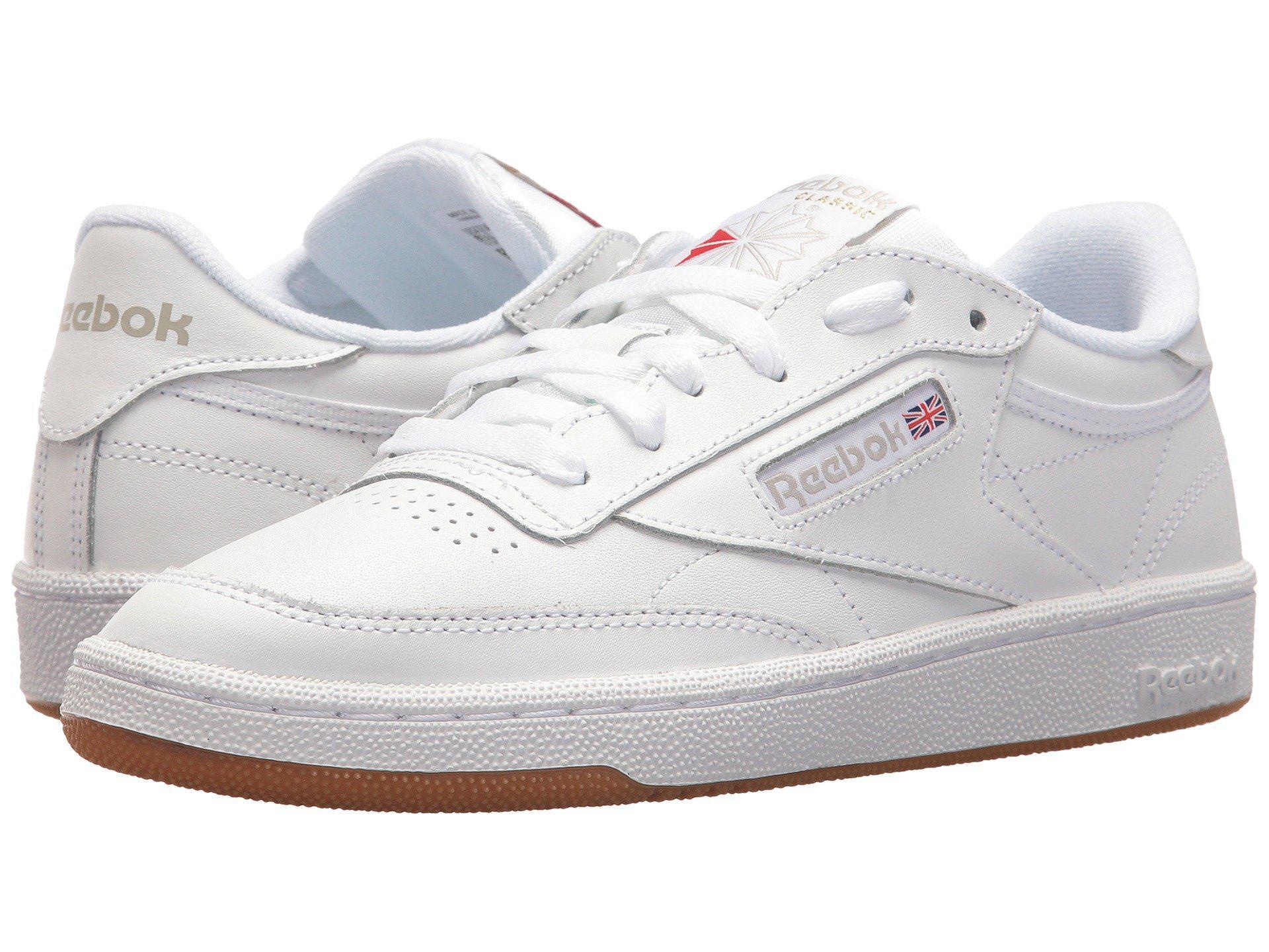 45131db4123a Lyst - Reebok Club C 85 (white light Grey gum) Women s Shoes