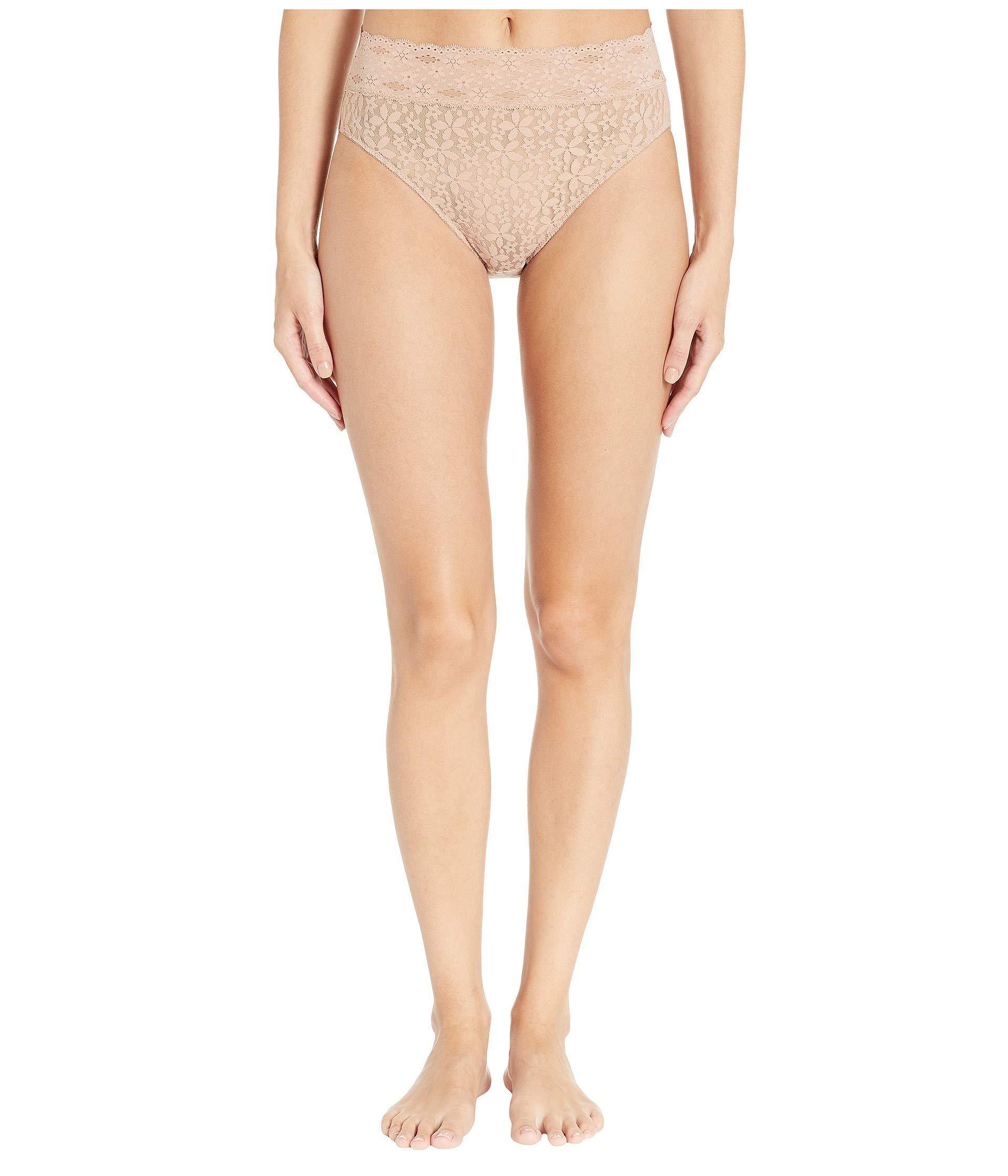 5968fc51a5 Lyst - Wacoal Halo Lace Hi-cut Brief (black) Women s Underwear