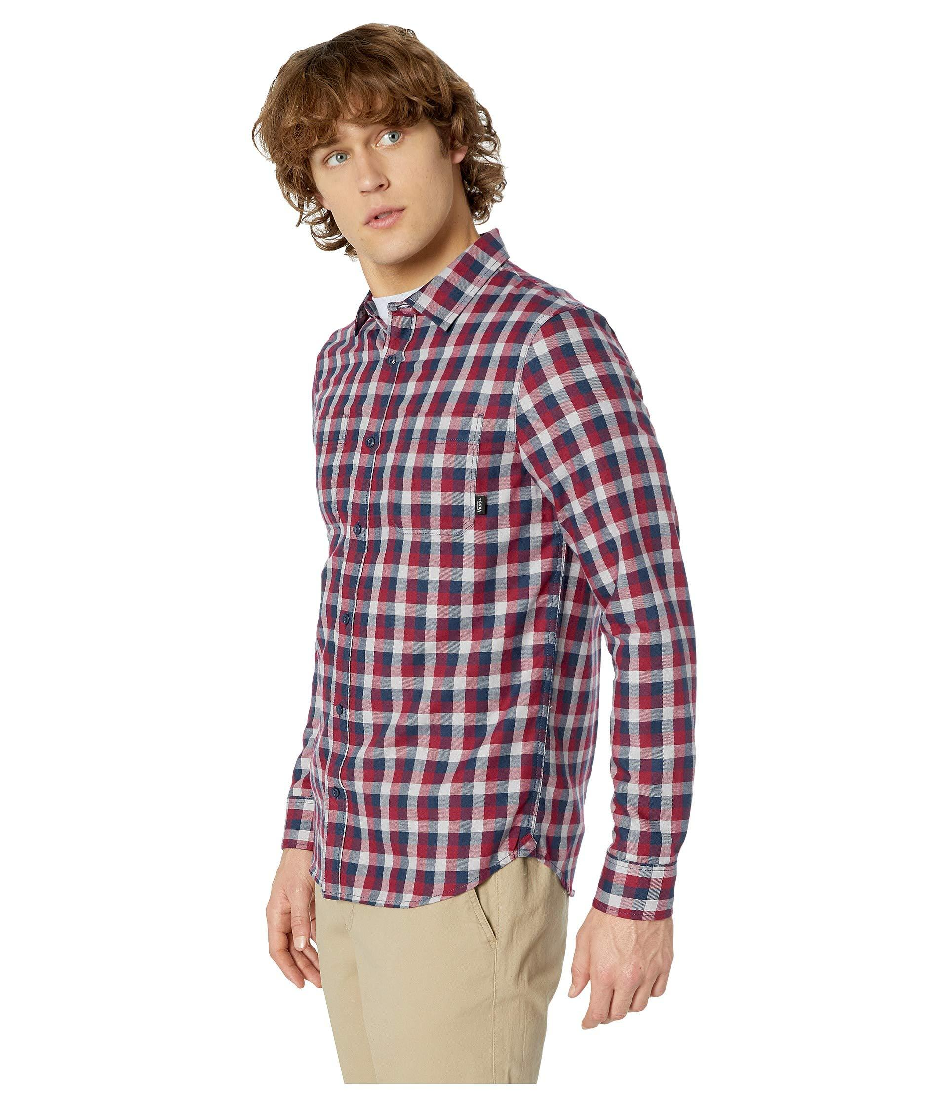 c0a69fcf34 Lyst - Vans Alameda Ii Long Sleeve Woven Top (rhumba Red dress Blues) Men s Long  Sleeve Button Up in Red for Men