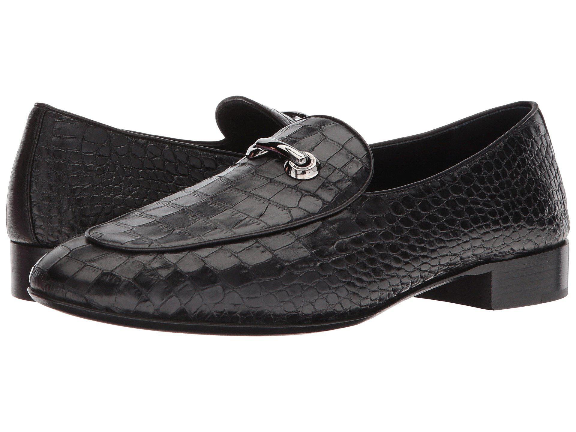 Mens Cut Stamped Croc Loafer