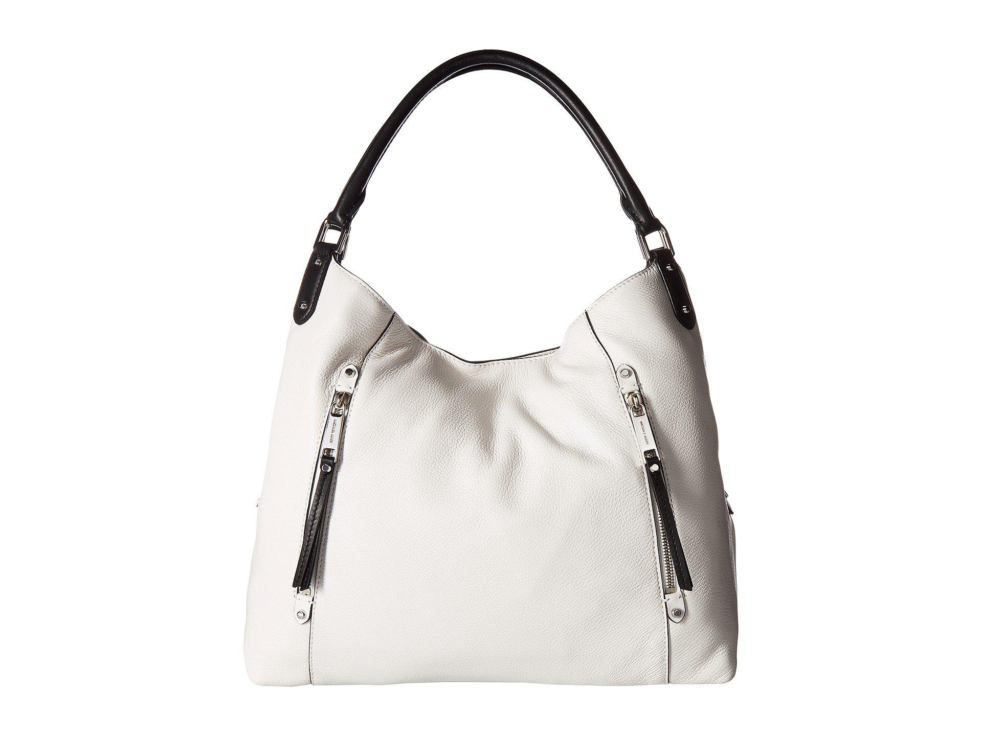 0adeb3c0e71dec MICHAEL Michael Kors Evie Large Shoulder Tote (optic White/black ...