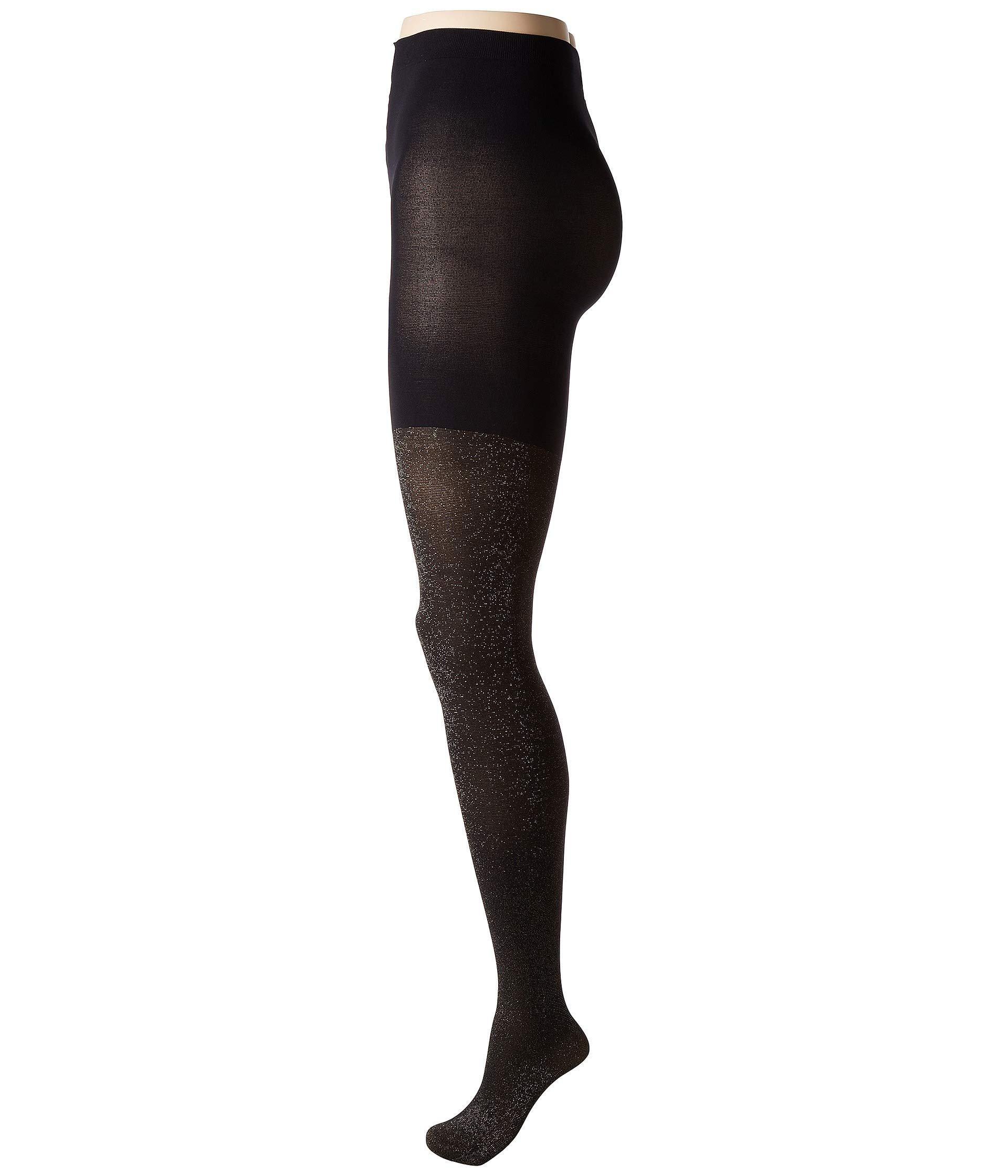 3065e3c7bf Lyst - Spanx Metallic Shimmer Mid-thigh Shaping Tights (gold Shimmer ...