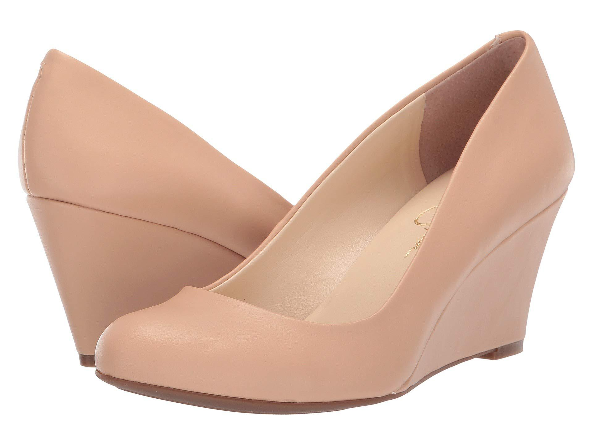 5a8331f9a1e Jessica Simpson. Natural Sampson - Exclusive (nude Blush Patent) Women s  Wedge Shoes