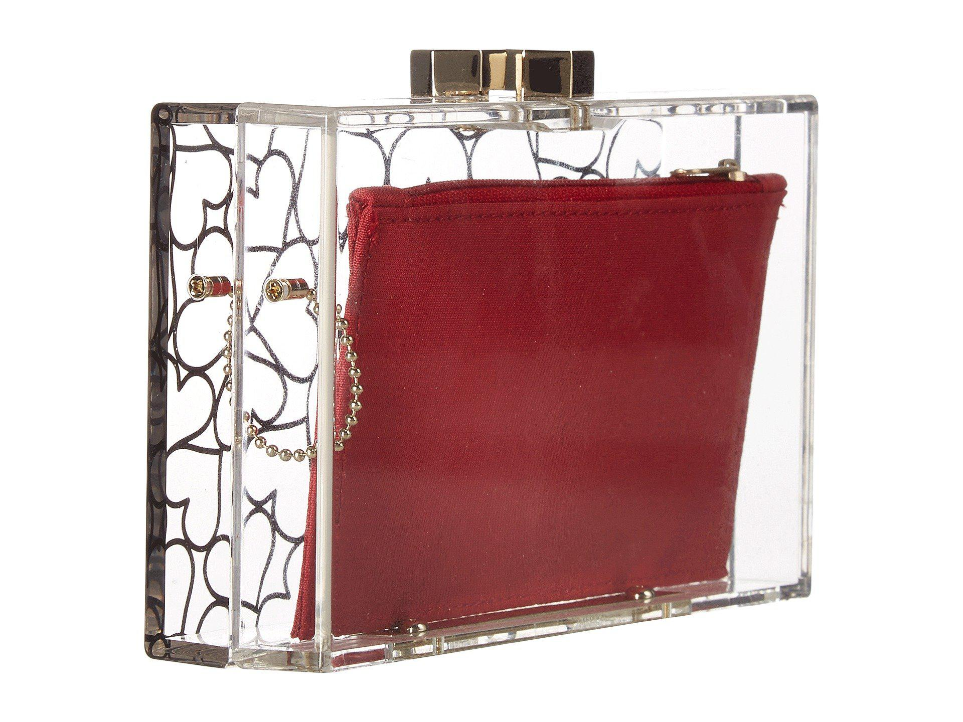 6c4d593a3b Love Moschino Clear Evening Clutch in Red - Lyst