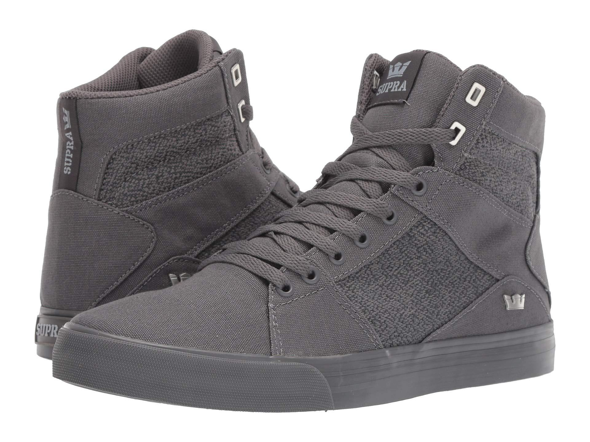 6233ed7a9e9a Lyst - Supra Aluminum (caution white) Men s Skate Shoes in Gray for Men