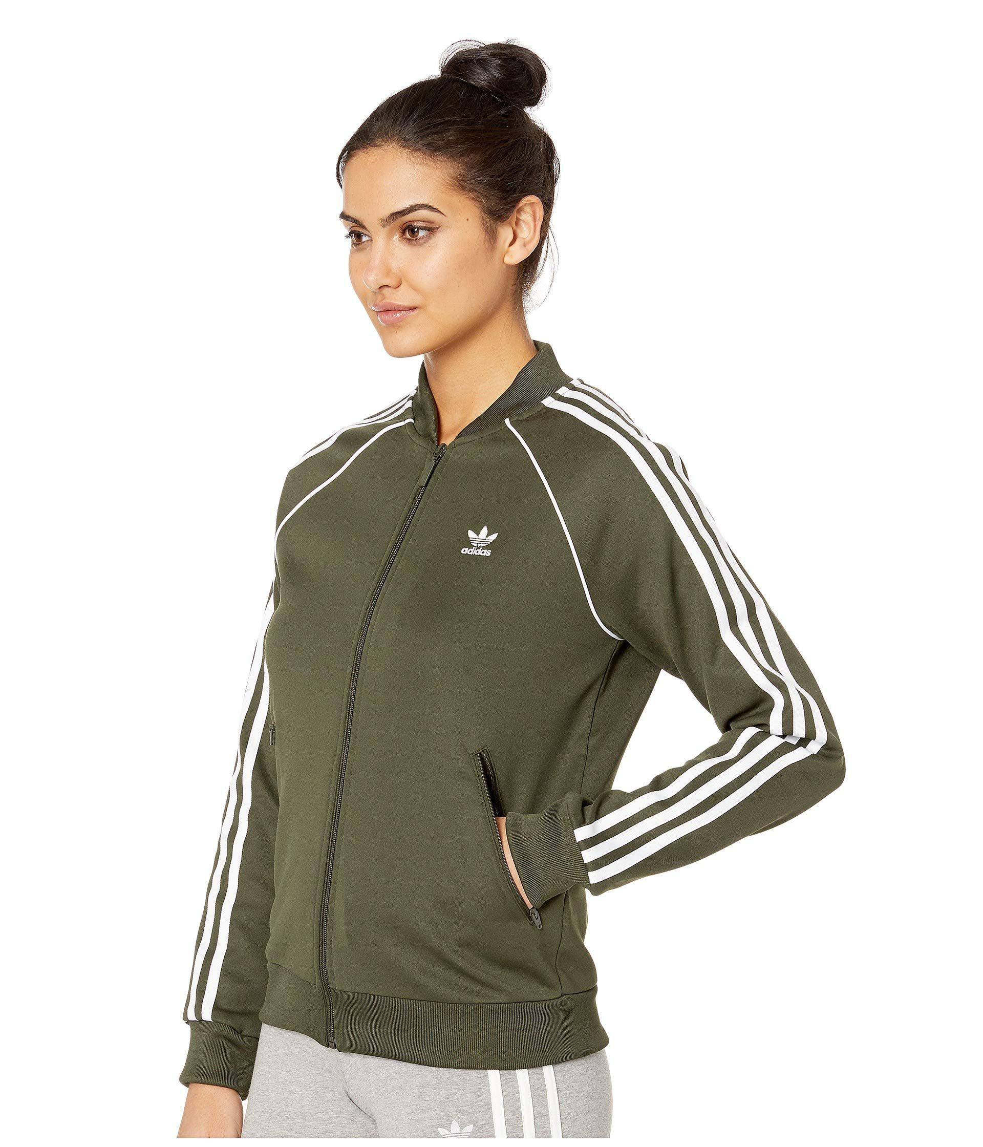Lyst - adidas Originals Sst Track Jacket (black) Women s Coat in Green a6f548ad8