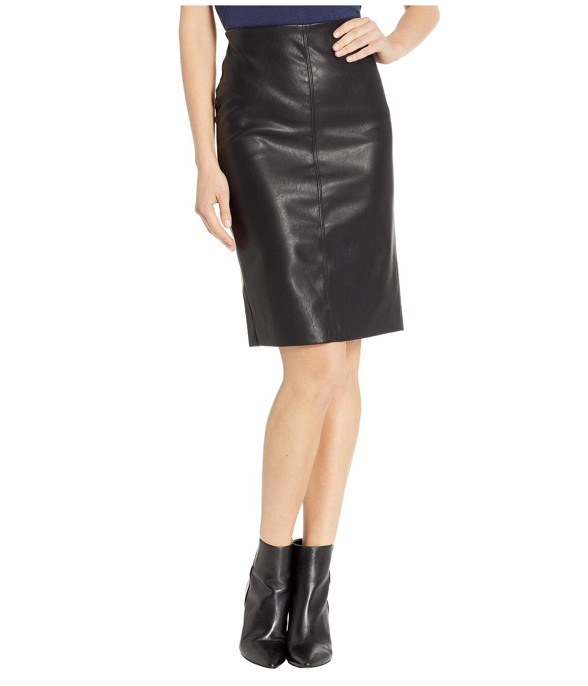 8e1578f8aeb598 Blank NYC - Vegan Leather Pull-on Pencil Skirt In Schooled-black - Lyst.  View fullscreen