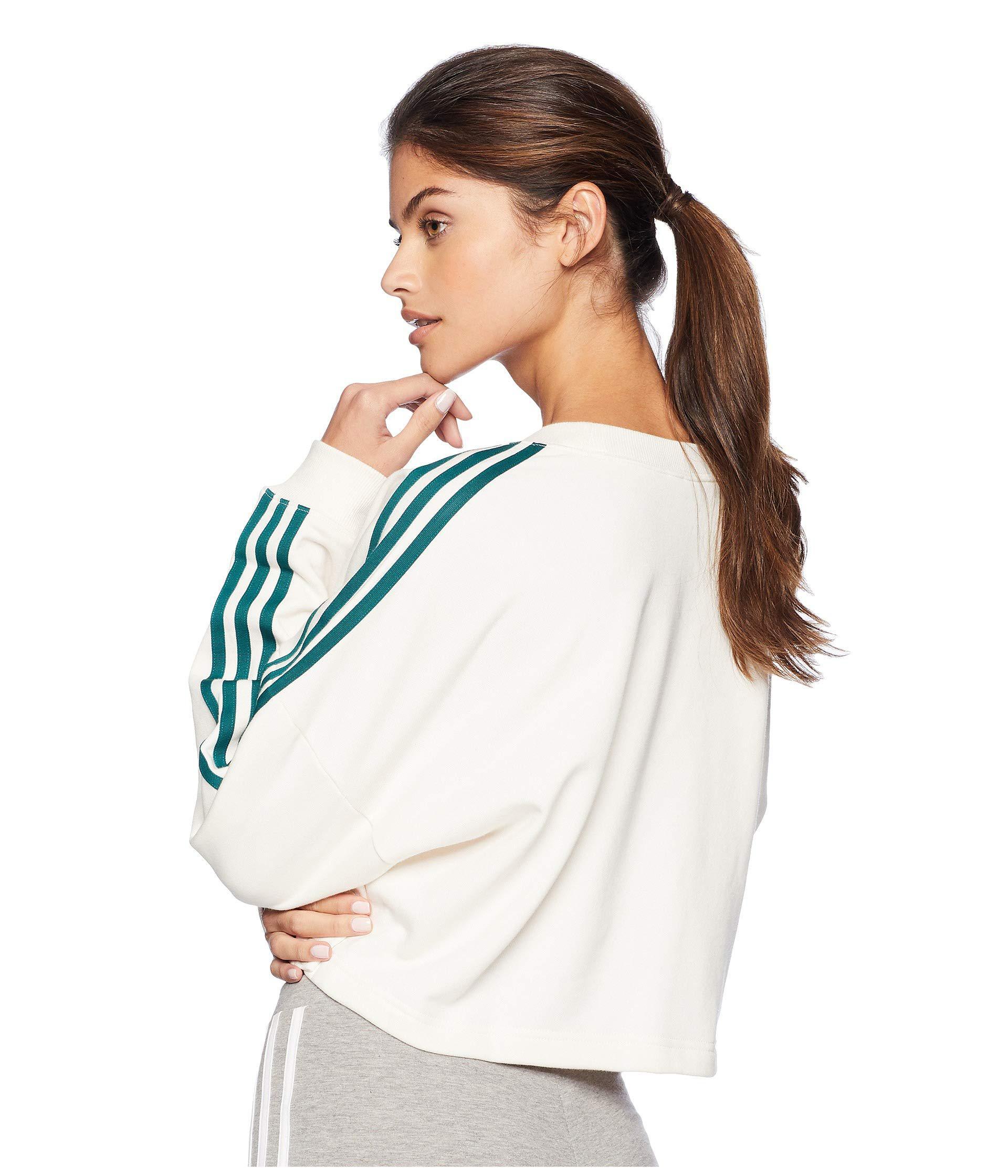 official photos 98555 5a296 adidas Originals Adibreak Cropped Sweater (chalk White) Women s ...