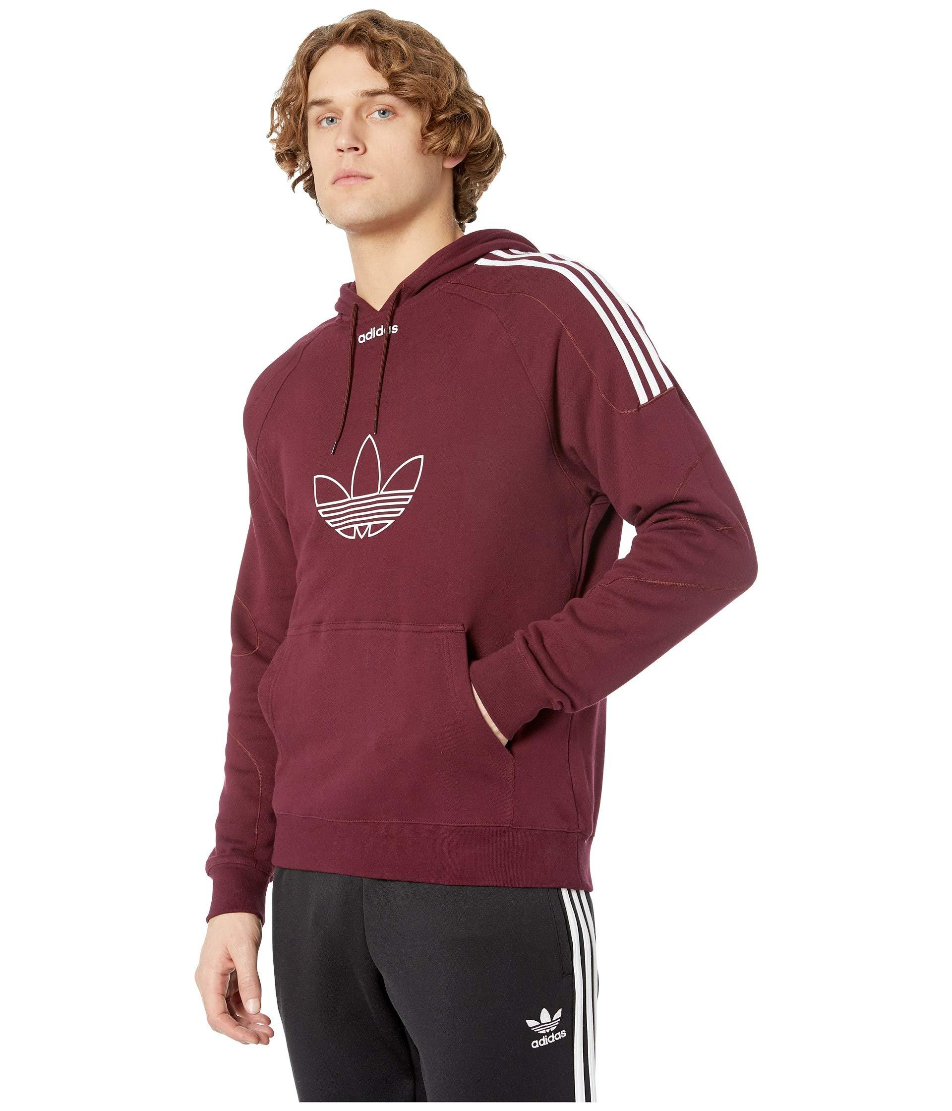 79ac58d72 adidas Originals Flock Hoodie (dark Blue) Men's Sweatshirt in Red ...