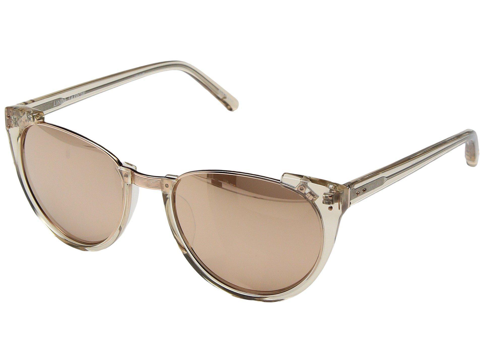 af4f7fedd93 Lyst - Linda Farrow Lfl136c30sun Rose Gold Sunglasses in Metallic