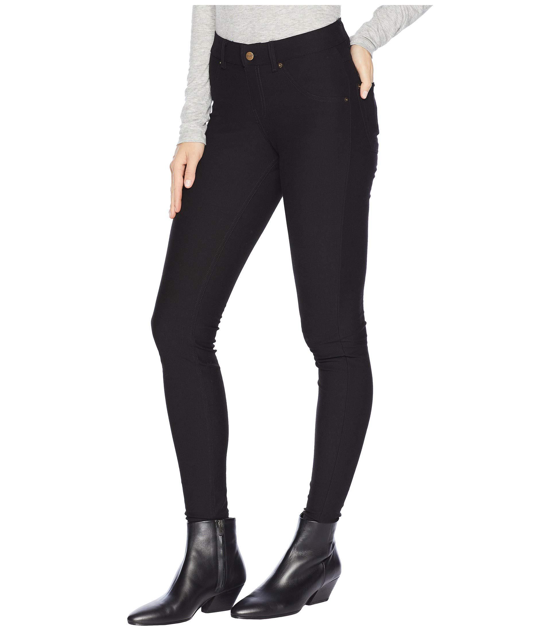 87ec65407f4d4 Lyst - Hue Essential Denim Leggings (black) Women's Jeans in Black