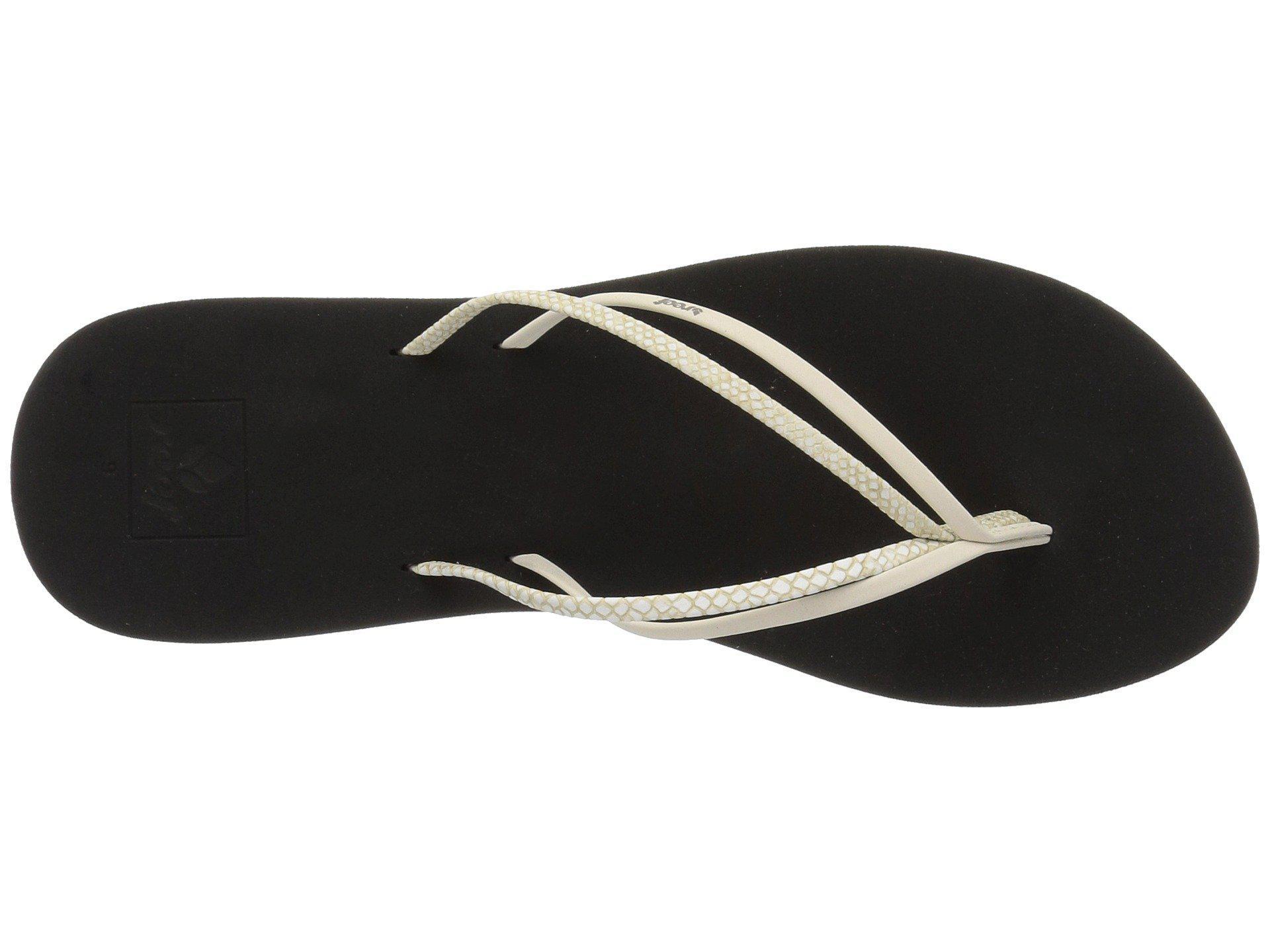 16bedcfcde81 Lyst - Reef Double Bliss (snake) Women s Sandals
