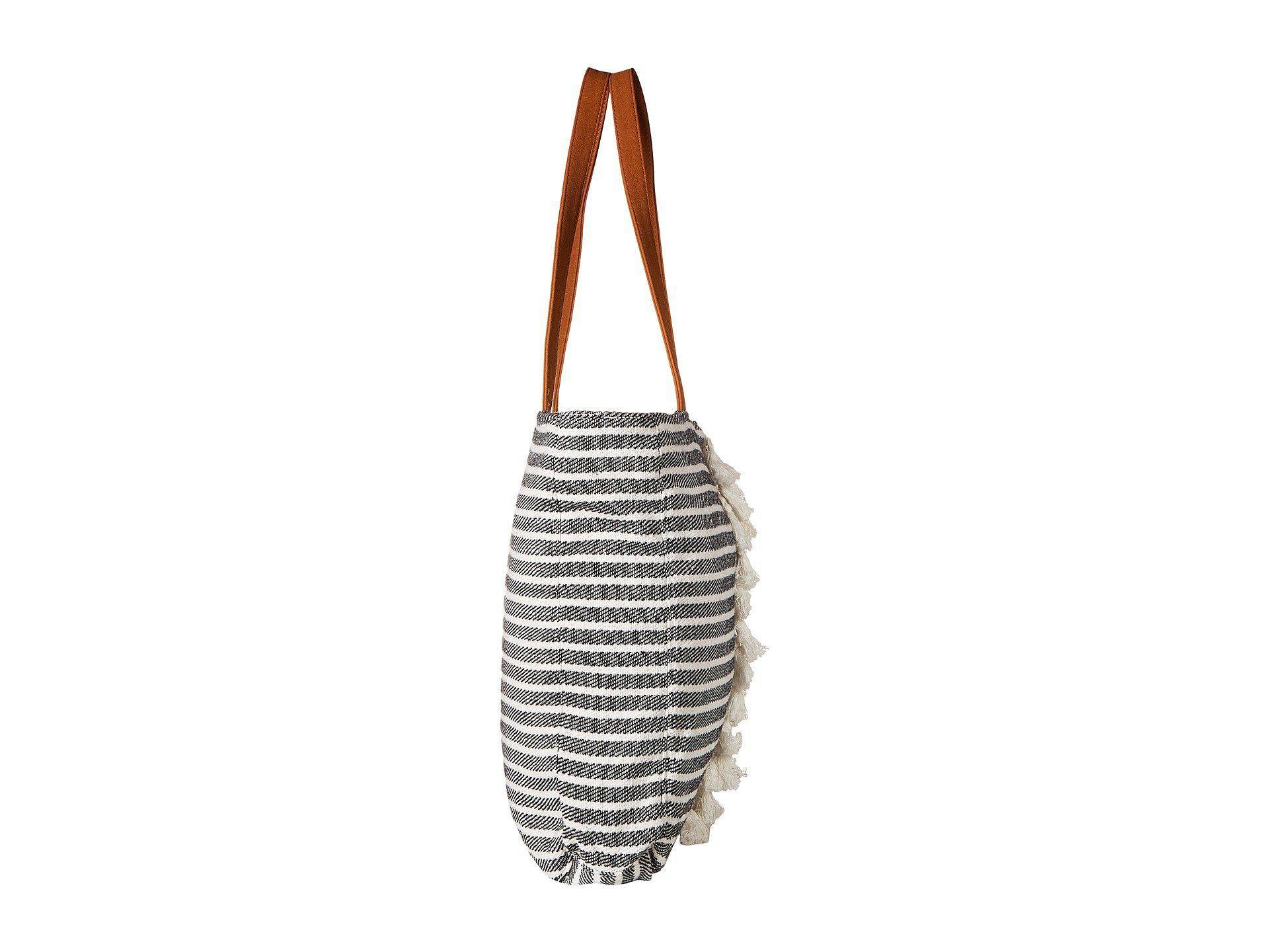 Lyst - Roxy Catch On Fire Medium Tote Bag (true Black) Tote Handbags ... 7ffaee4fe4dfb
