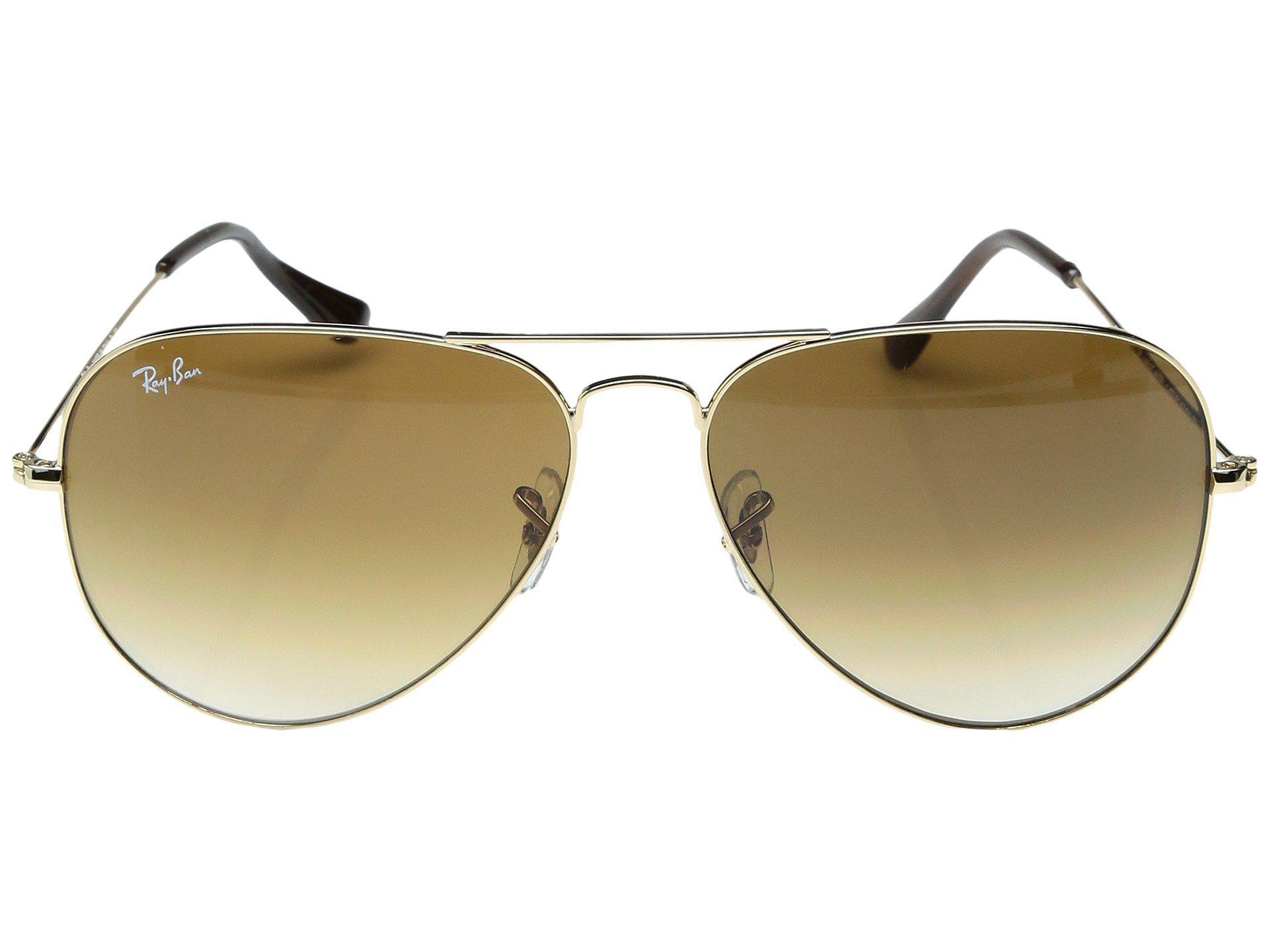 013eaa8143965 Ray-Ban - Metallic Rb3025 Original Aviator 62mm (gold crystal Brown Gradient).  View fullscreen