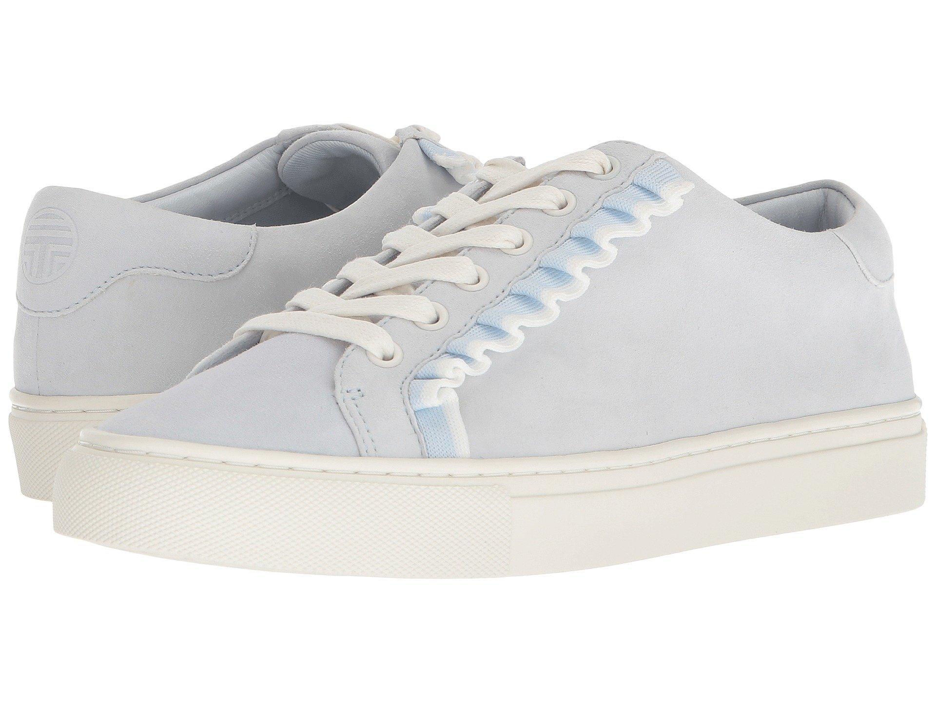 038a18f3ee4a Lyst - Tory Sport Ruffle Sneaker (snow White nantucket) Women s ...
